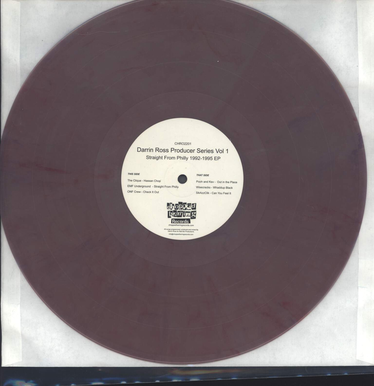 "Various: Darrin Ross Producer Series Vol 1 (Straight From Philly 1992-1995 EP), 12"" Maxi Single (Vinyl)"