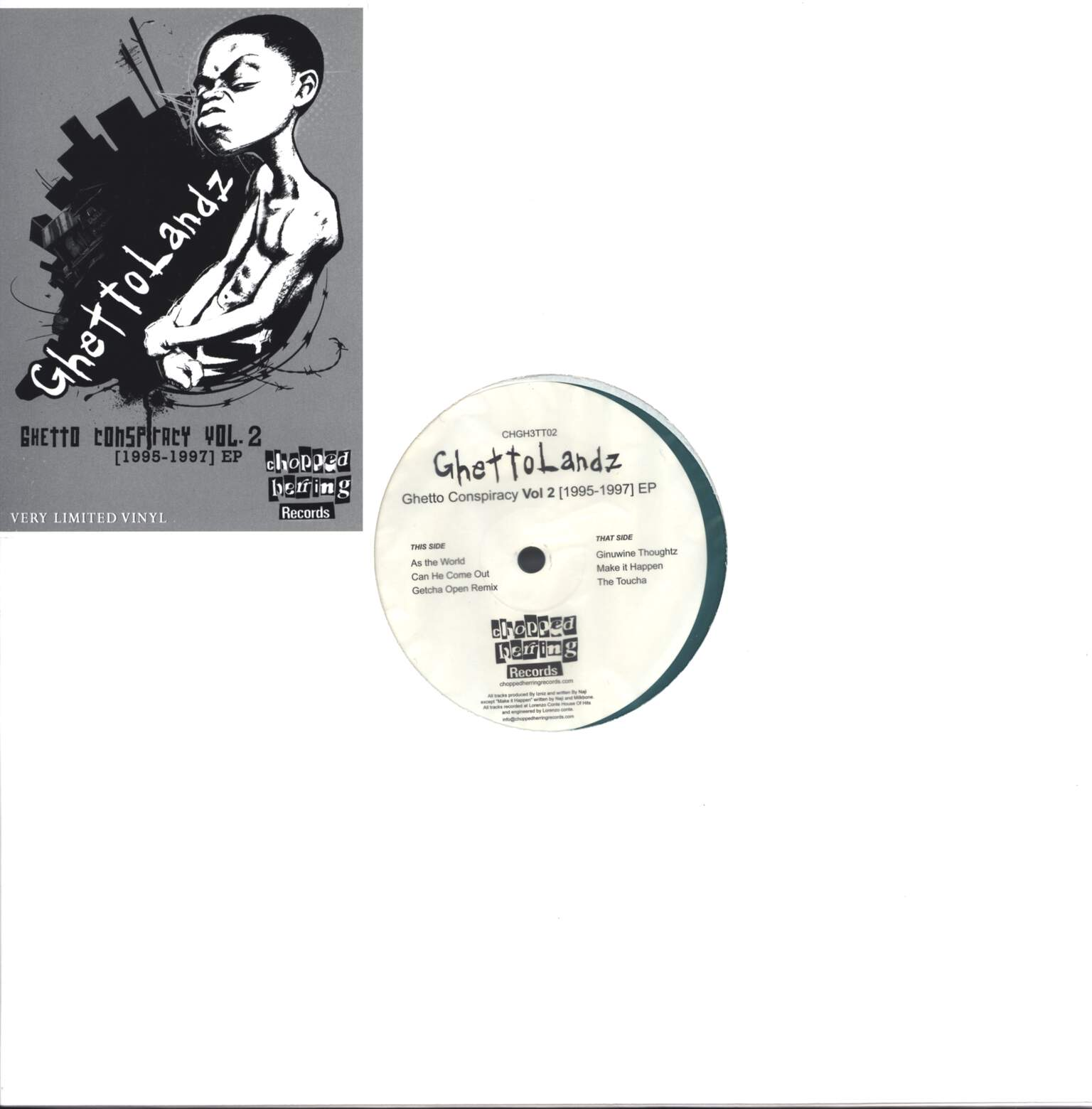 "Ghettolandz: Ghetto Conspiracy Vol. 2 [1995-1997] EP, 12"" Maxi Single (Vinyl)"