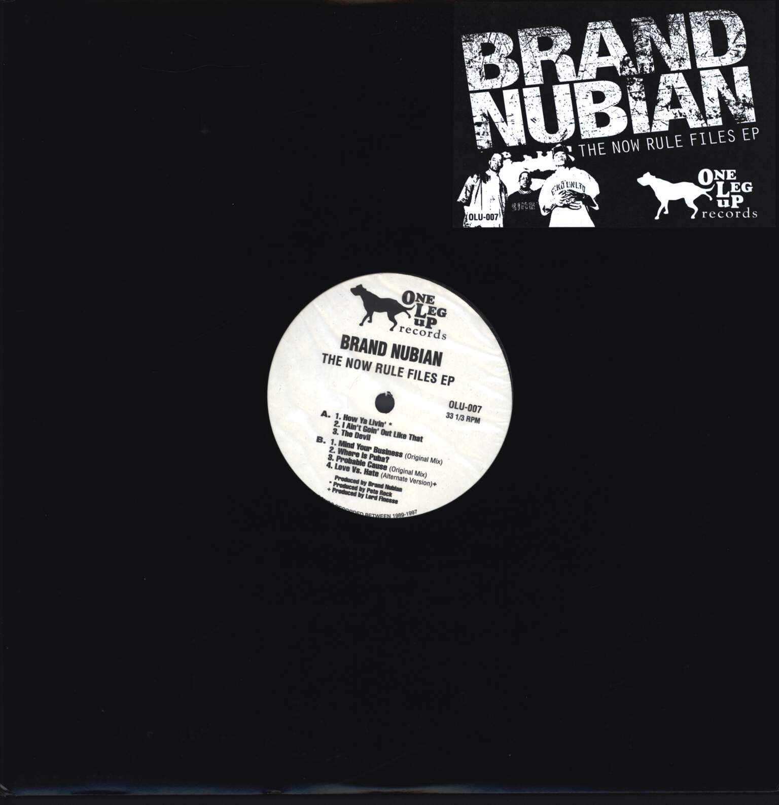 "Brand Nubian: The Now Rule Files EP, 12"" Maxi Single (Vinyl)"