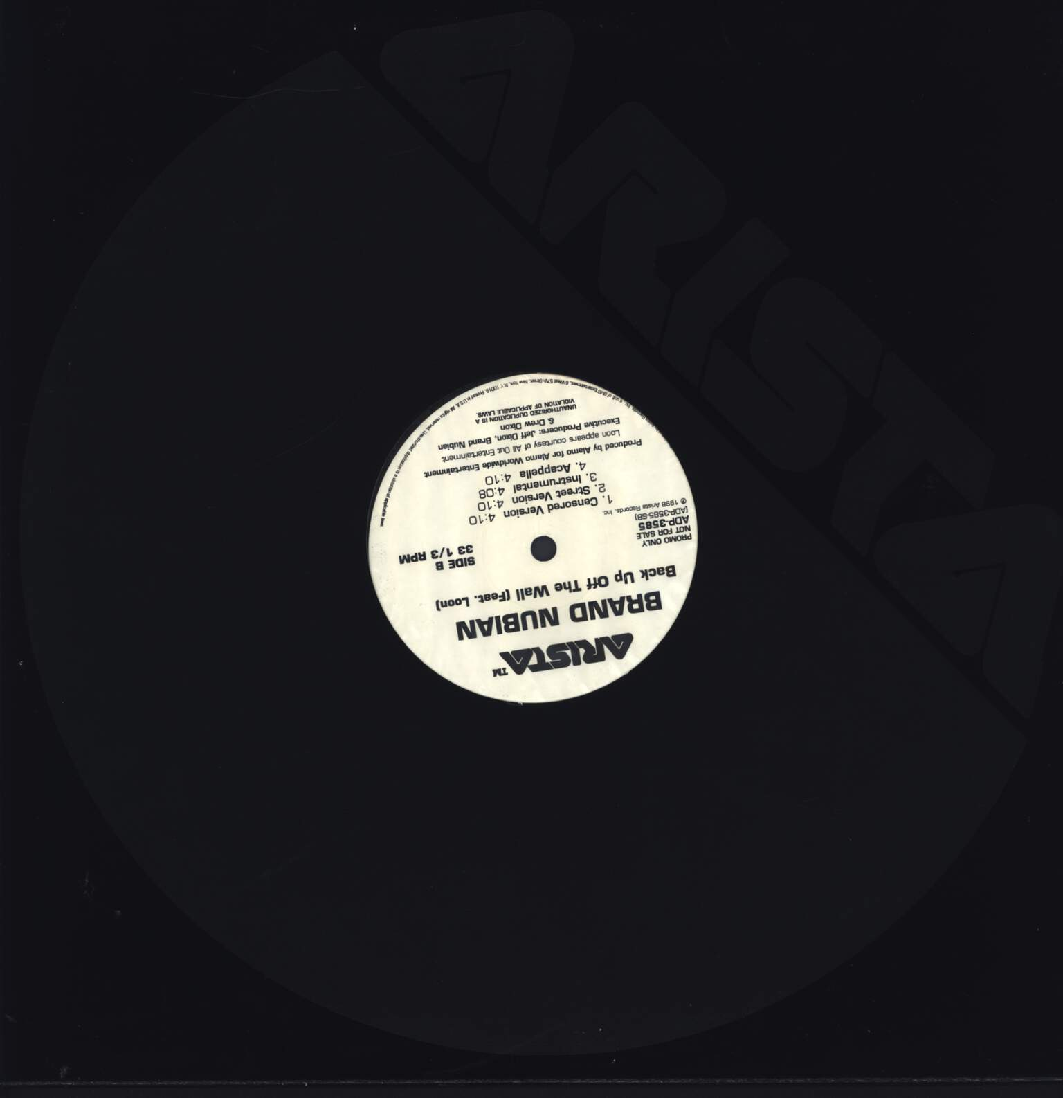 "Brand Nubian: Take It To The Head (Don't Let It Go To Your Head Remix), 12"" Maxi Single (Vinyl)"