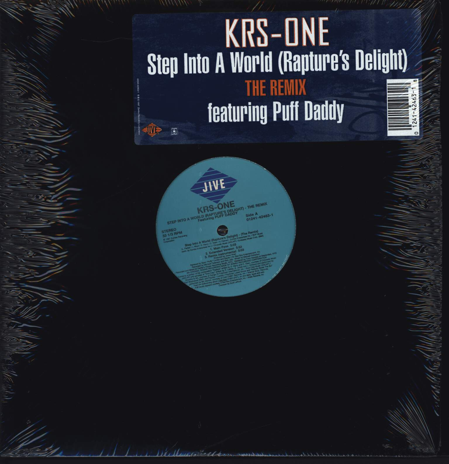"Krs-One: Step Into A World (Rapture's Delight) (The Remix), 12"" Maxi Single (Vinyl)"
