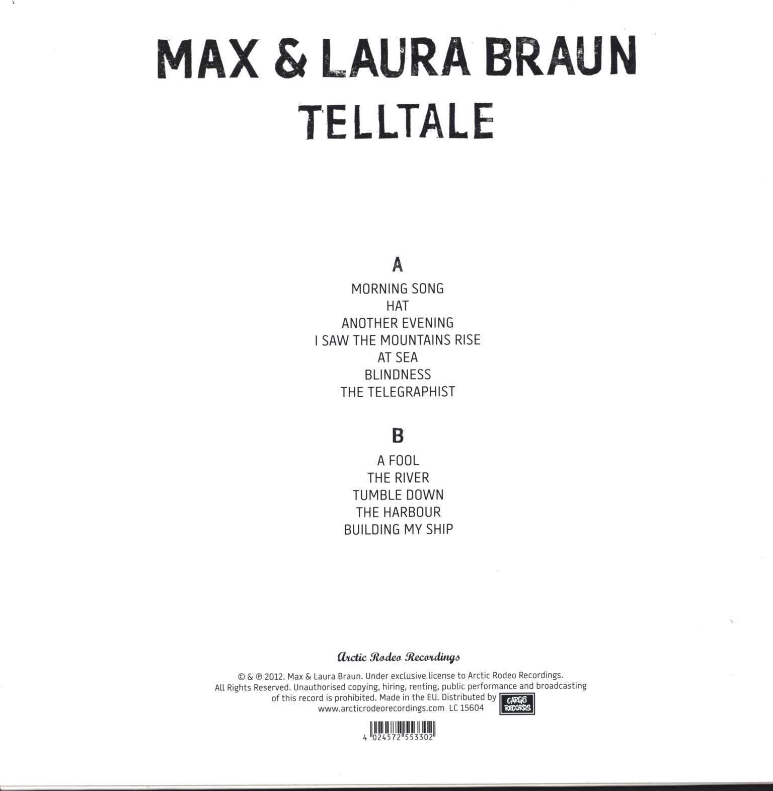 Max And Laura Braun: Telltale, LP (Vinyl)