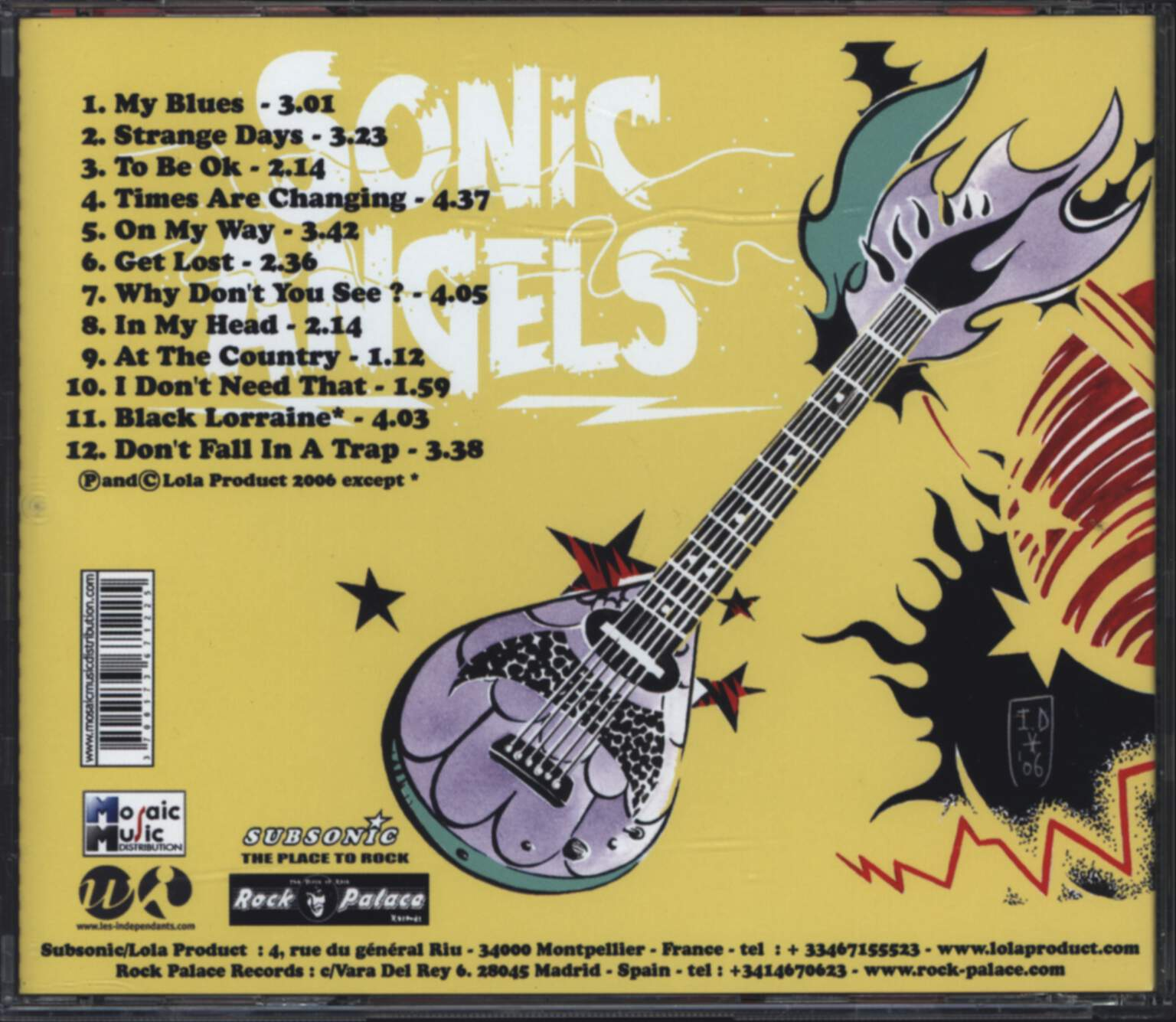 Sonic Angels: Times Are Changing, CD