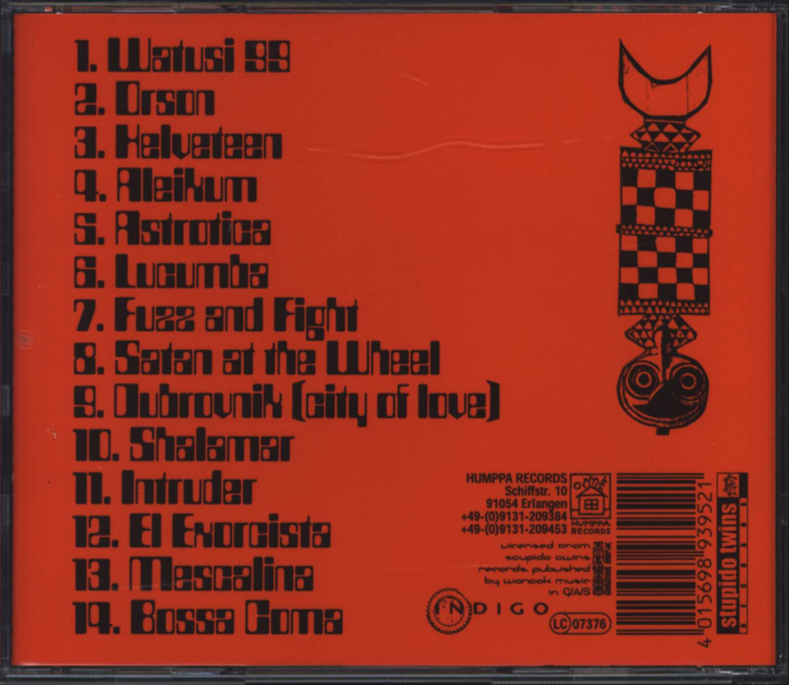 The Hypnomen: Watusi, CD