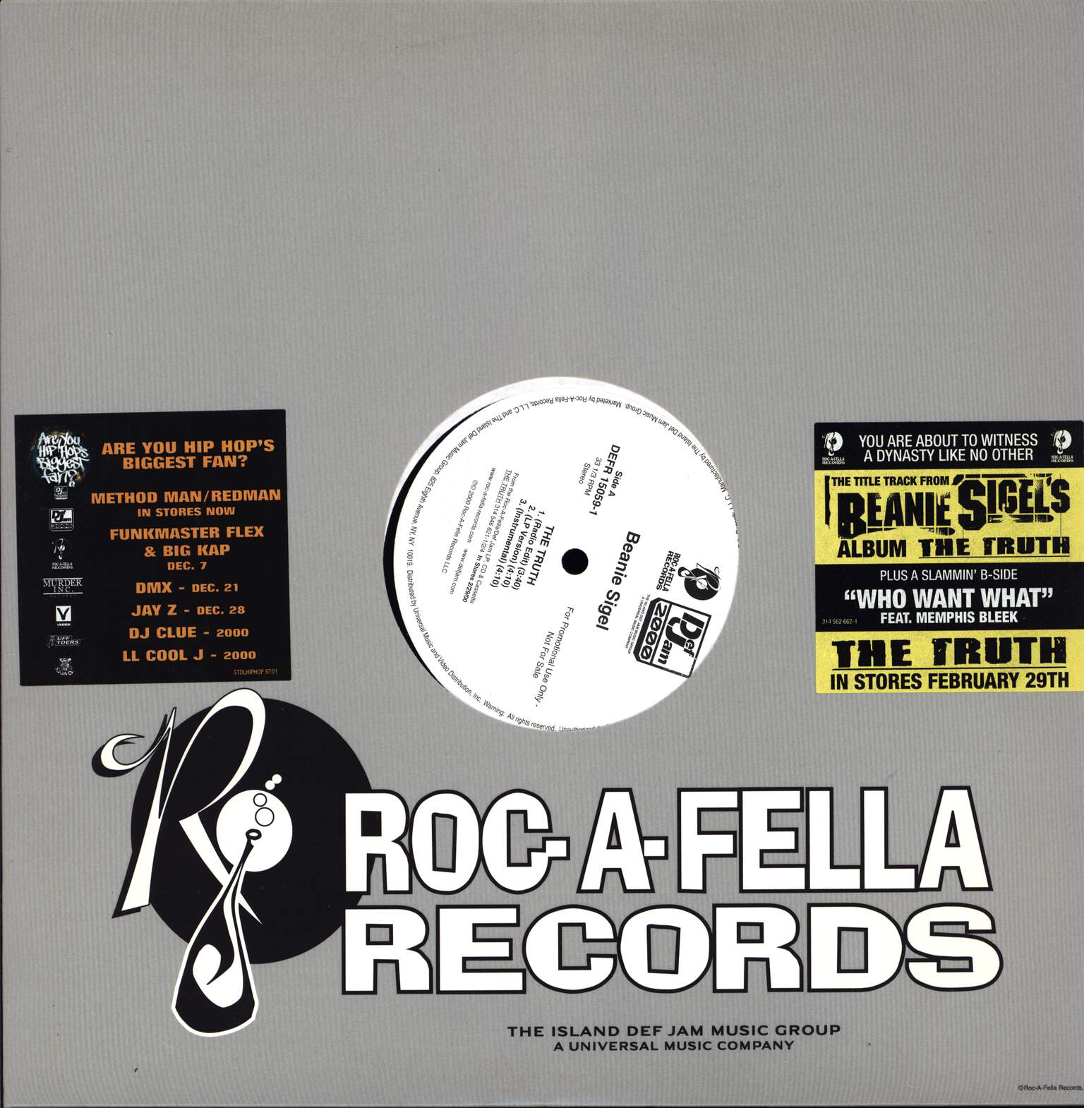"Beanie Sigel: The Truth, 12"" Maxi Single (Vinyl)"