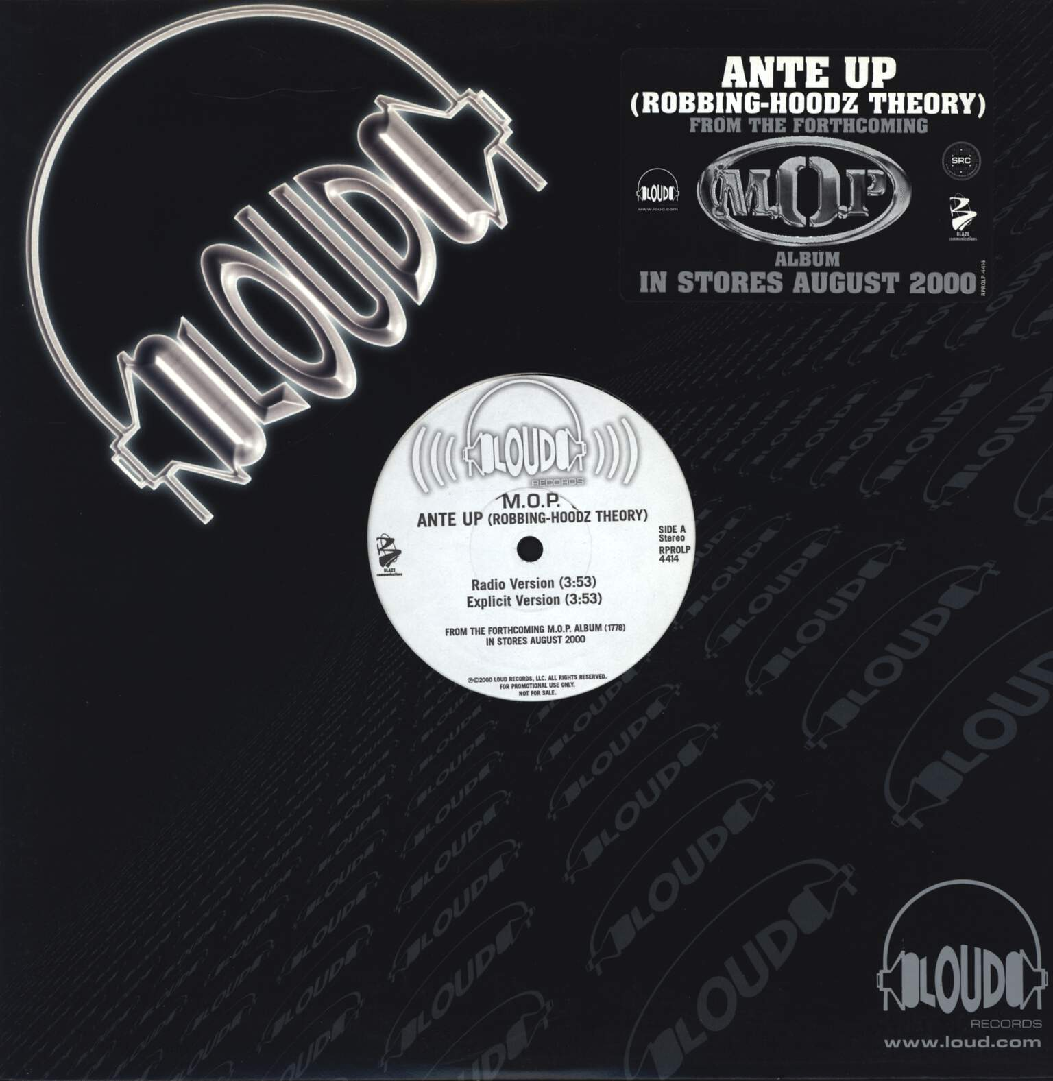 "M.O.P.: Ante Up (Robbing-Hoodz Theory), 12"" Maxi Single (Vinyl)"