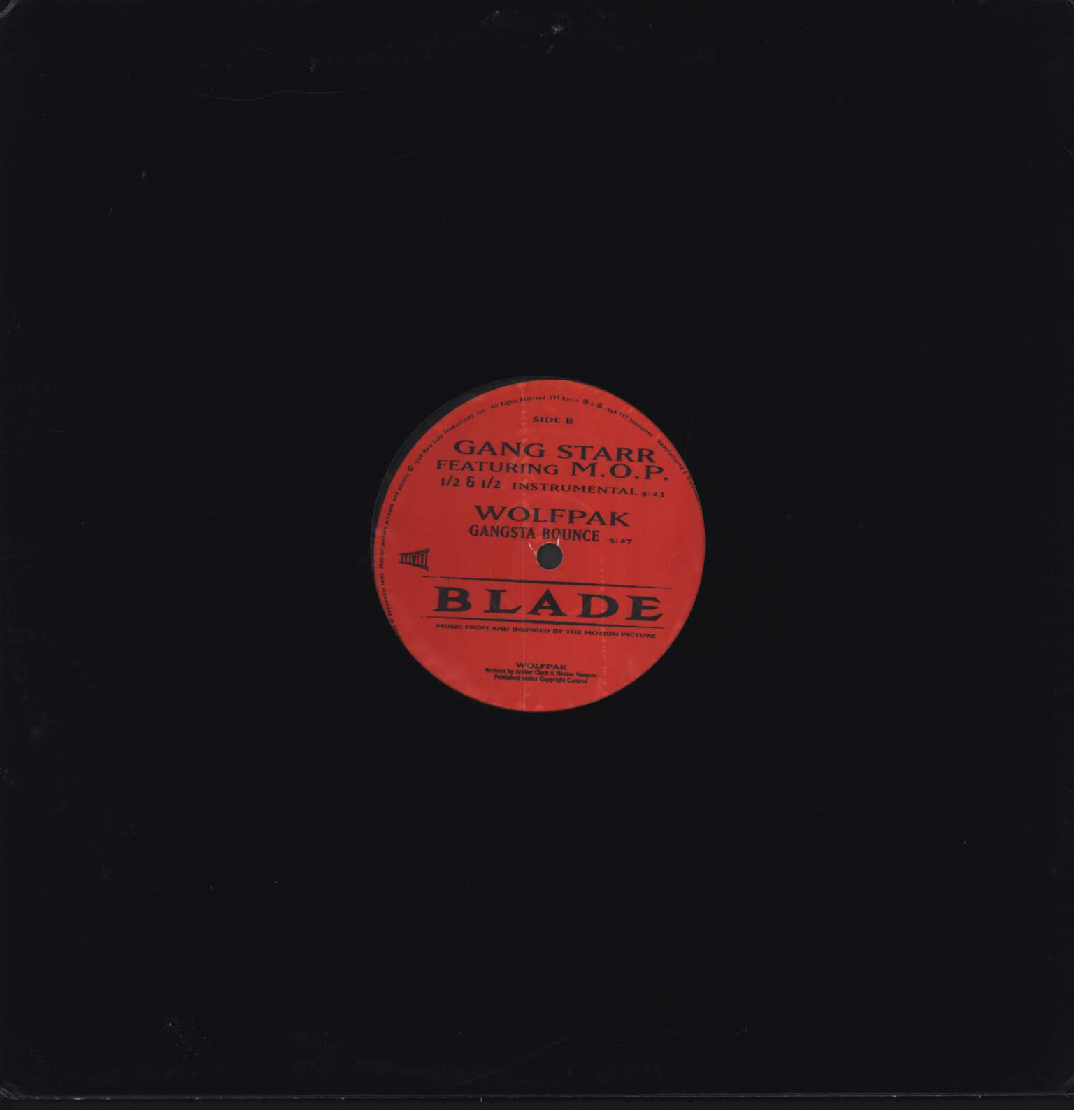 "Gang Starr: 1/2 & 1/2, 12"" Maxi Single (Vinyl)"