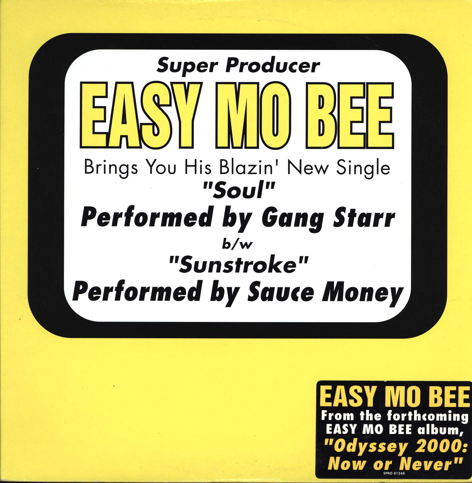 "Easy Mo Bee: Soul / Sunstroke, 12"" Maxi Single (Vinyl)"