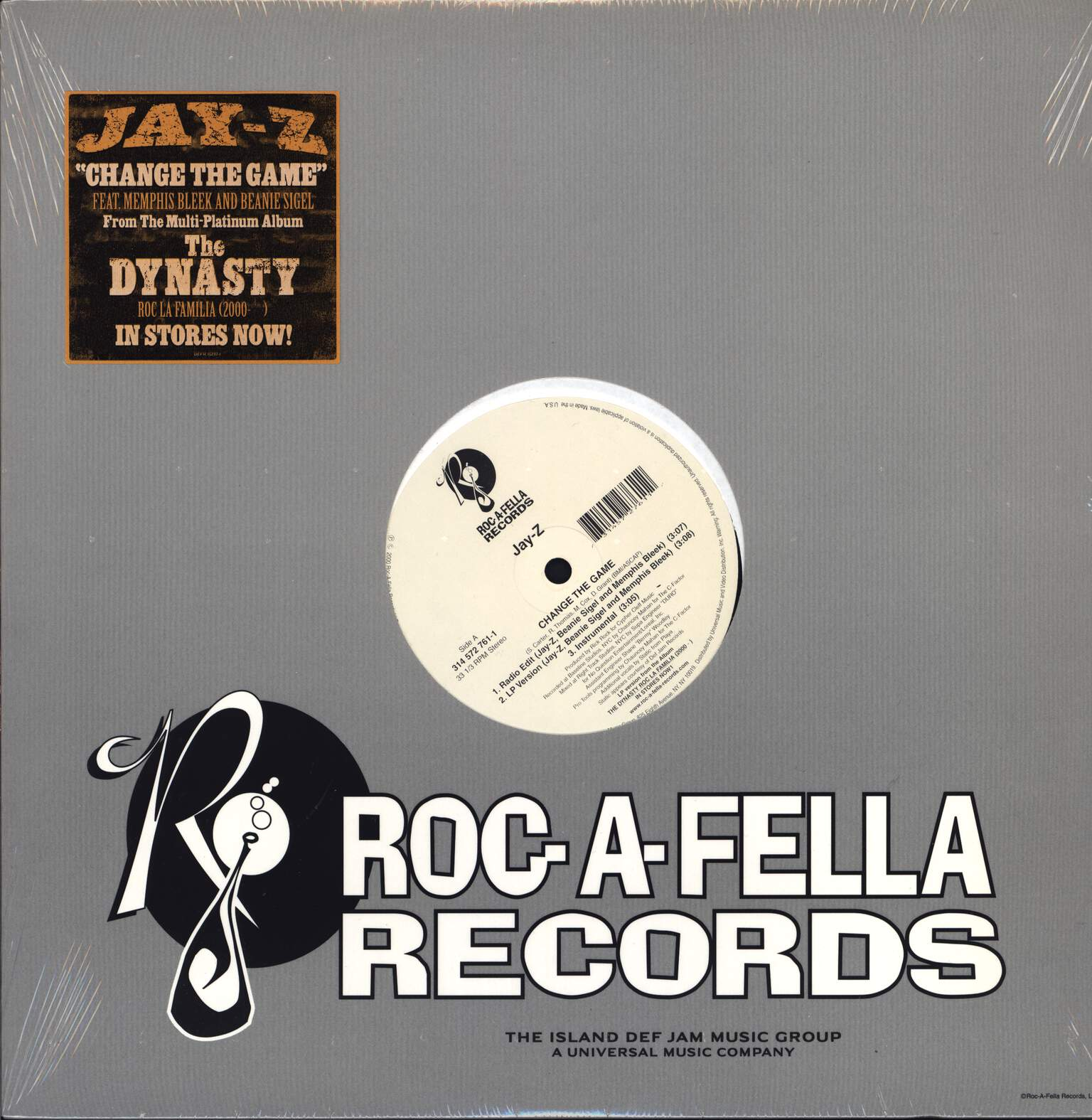 "Jay-Z: Change The Game / You, Me, Him And Her, 12"" Maxi Single (Vinyl)"