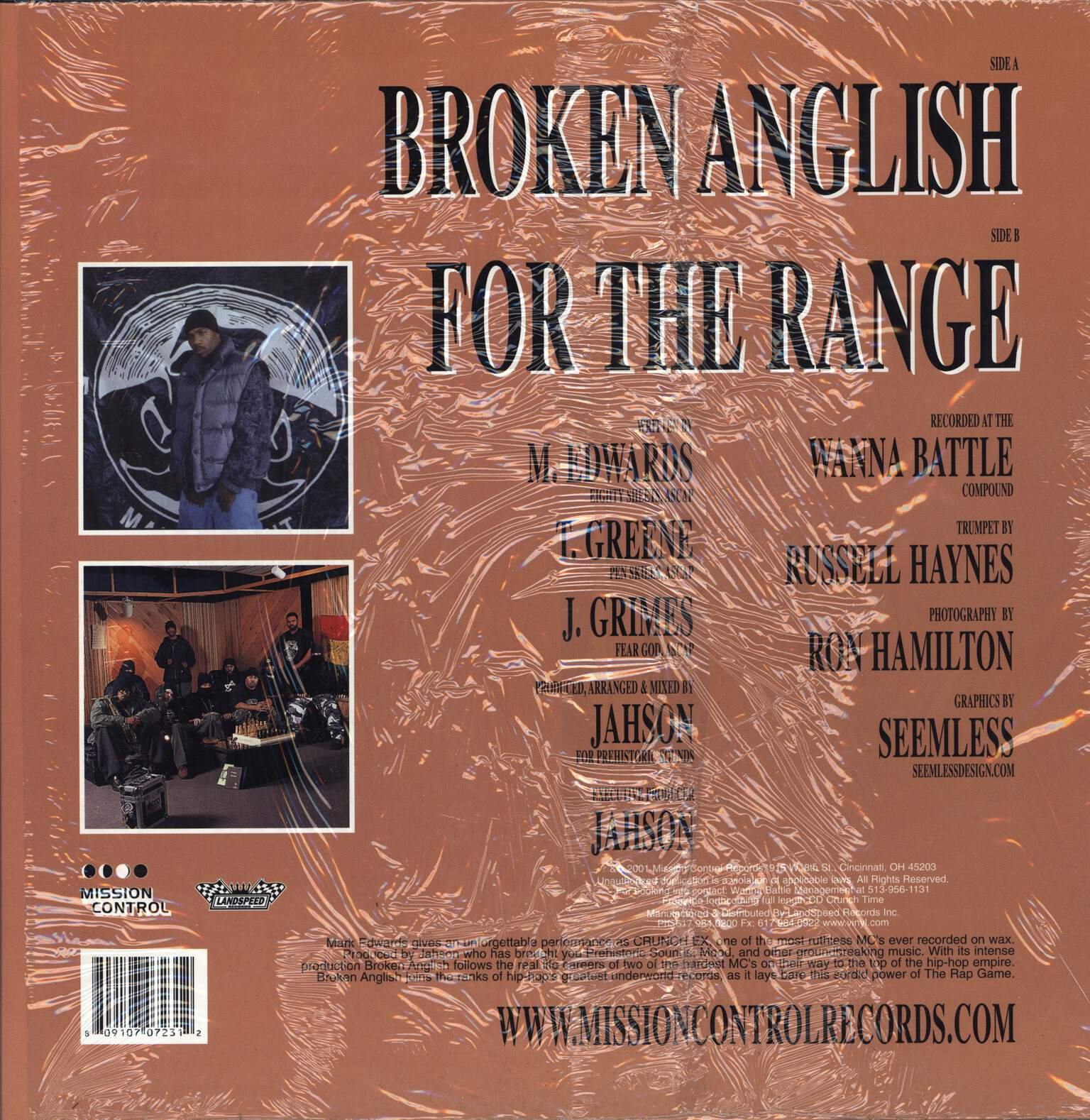"Crunch Ex: Broken Anglish, 12"" Maxi Single (Vinyl)"