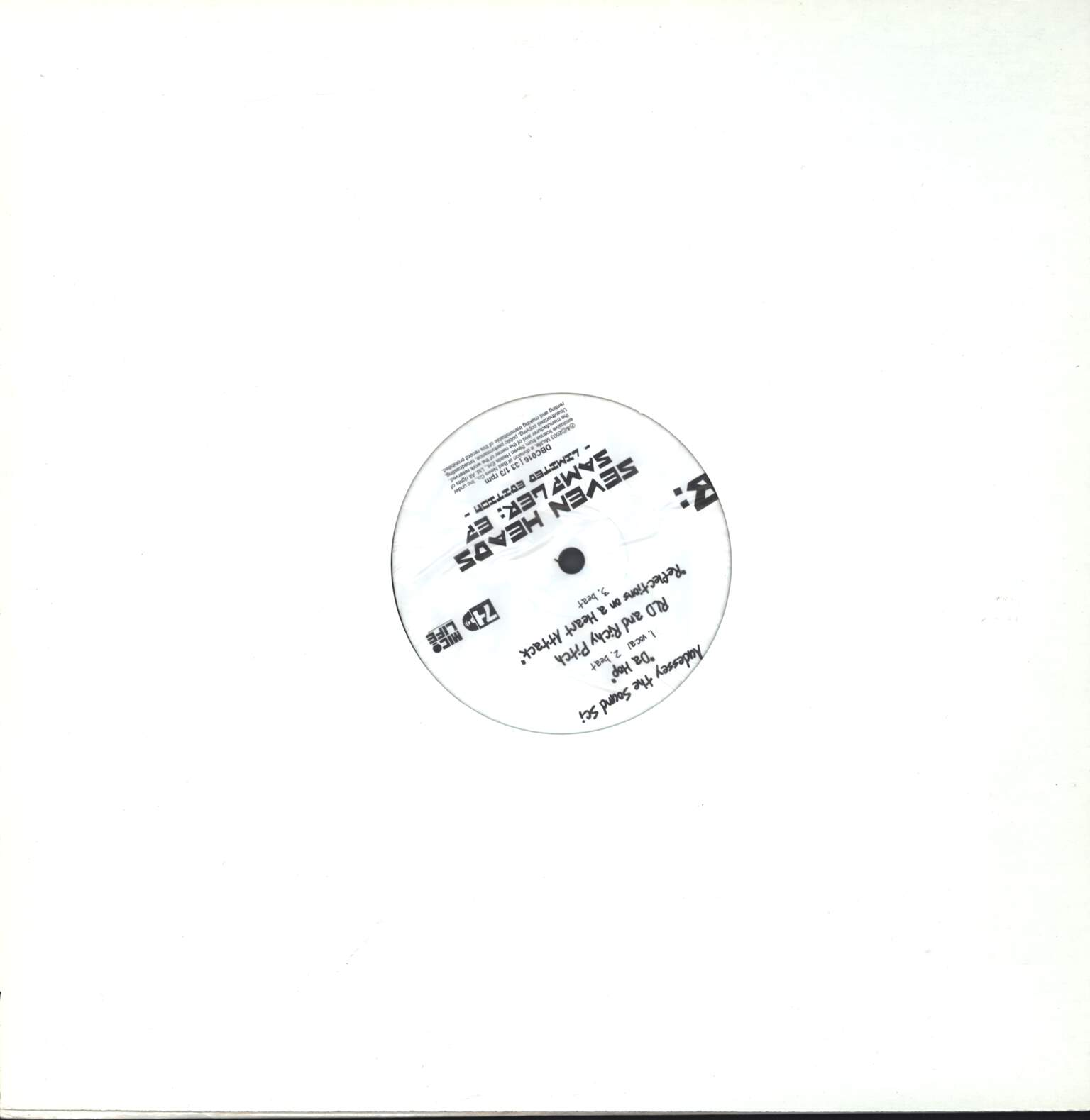 "Various: Seven Heads - Sampler: EP, 12"" Maxi Single (Vinyl)"