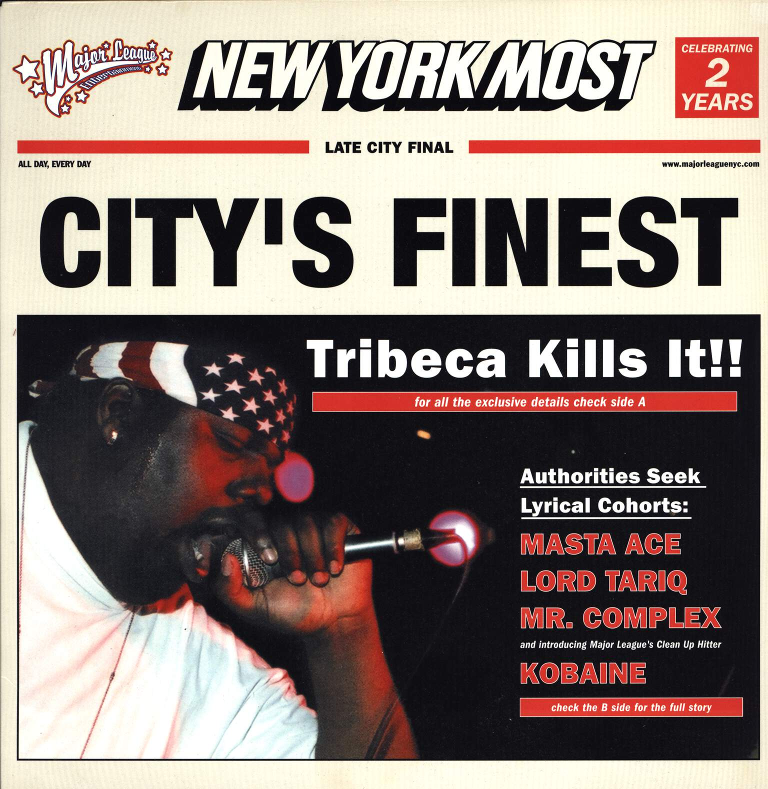 "Tribeca: City's Finest, 12"" Maxi Single (Vinyl)"