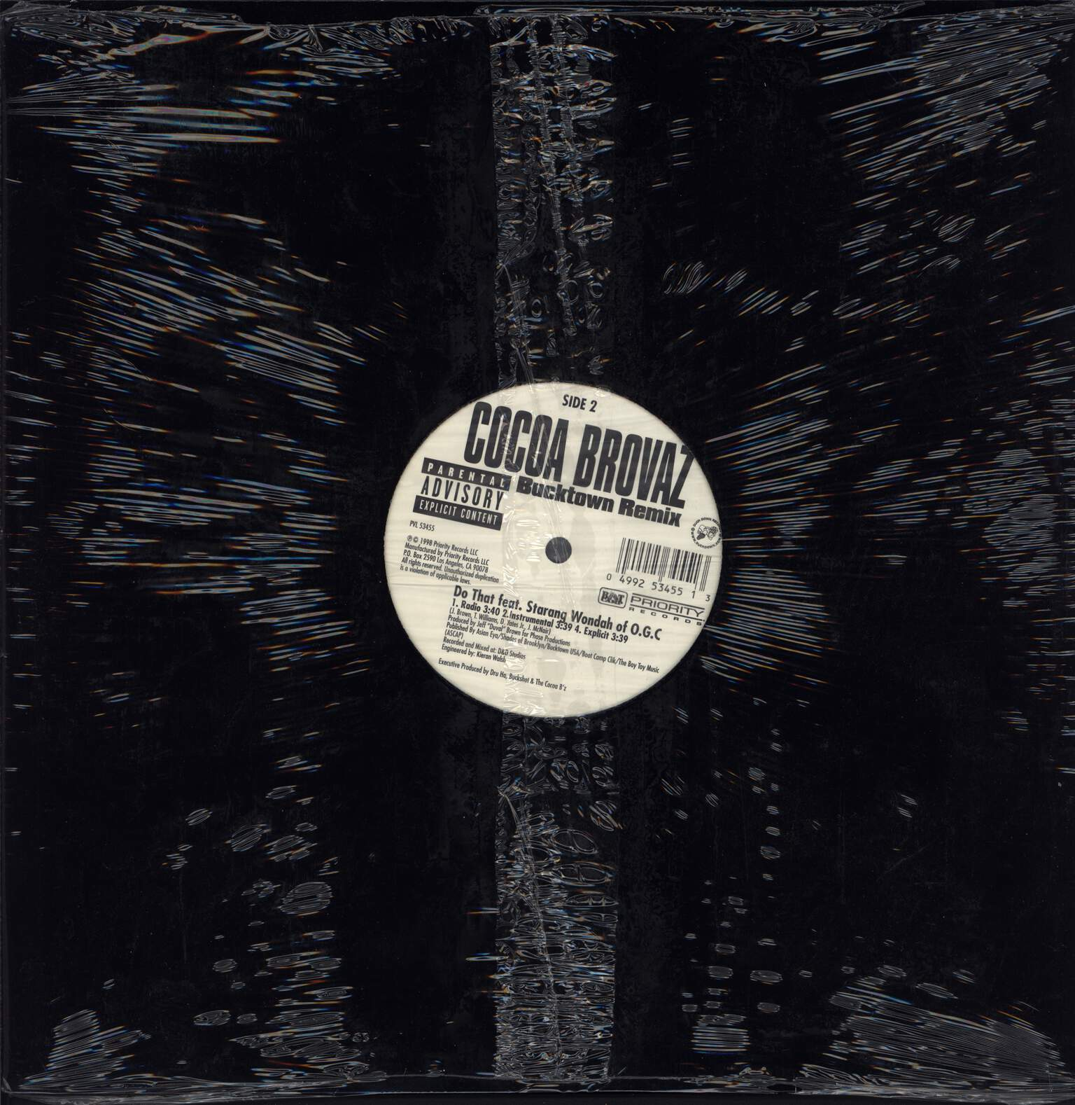 "Cocoa Brovaz: Bucktown (Remix), 12"" Maxi Single (Vinyl)"