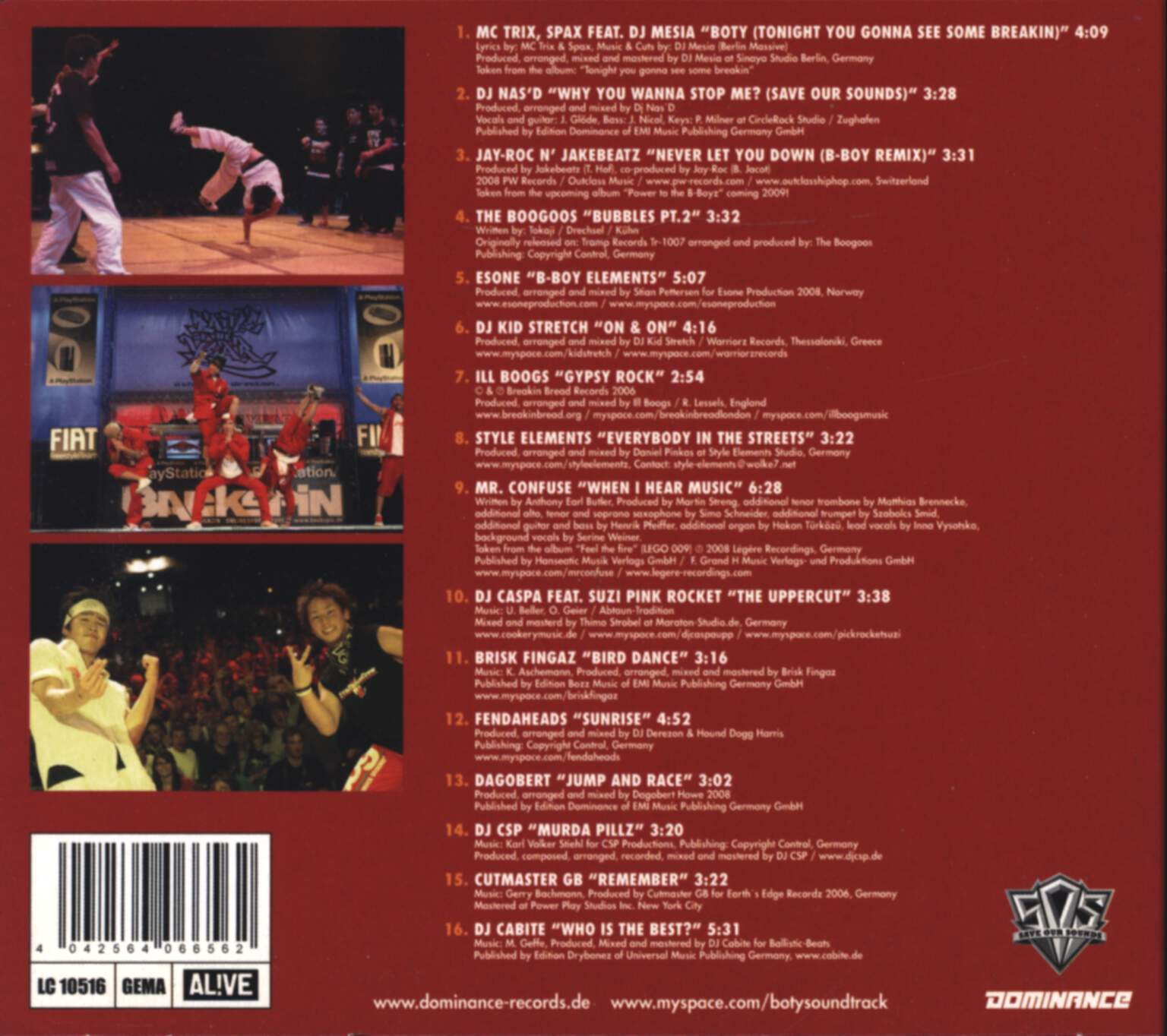 Various: International Battle Of The Year 2008 The Soundtrack, CD