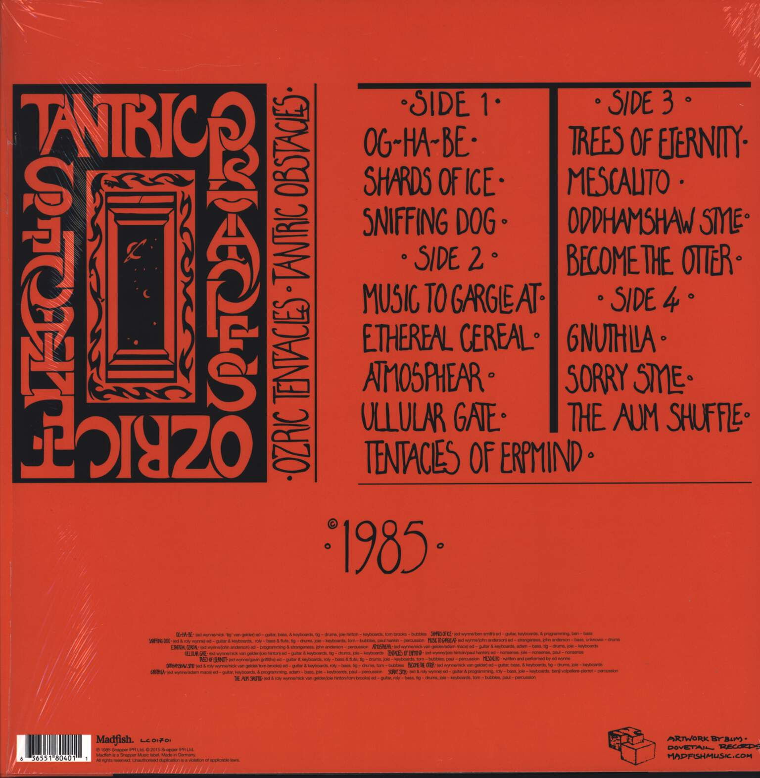 Ozric Tentacles: Tantric Obstacles, LP (Vinyl)
