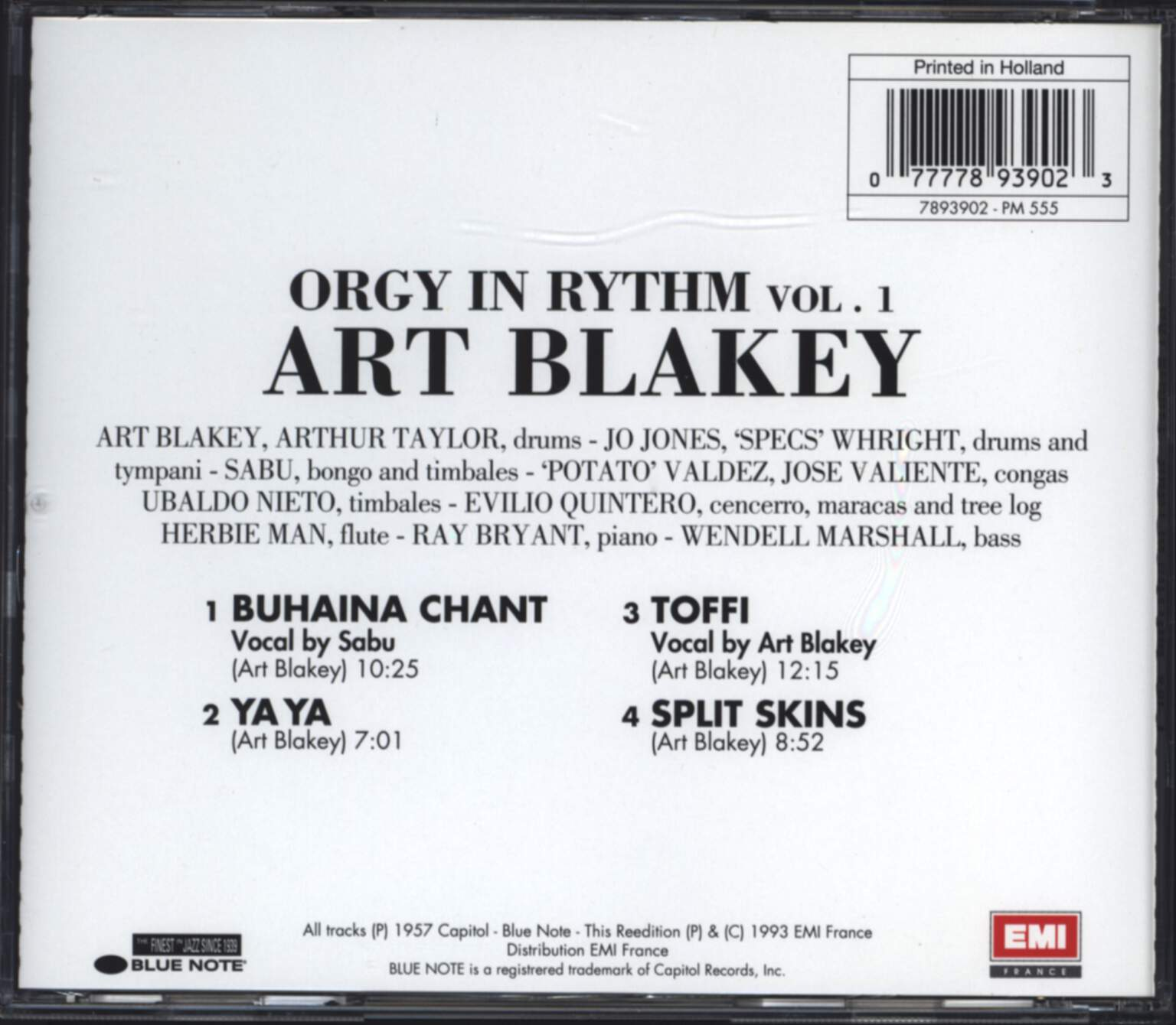 Art Blakey: Orgy In Rhythm vol.1, CD