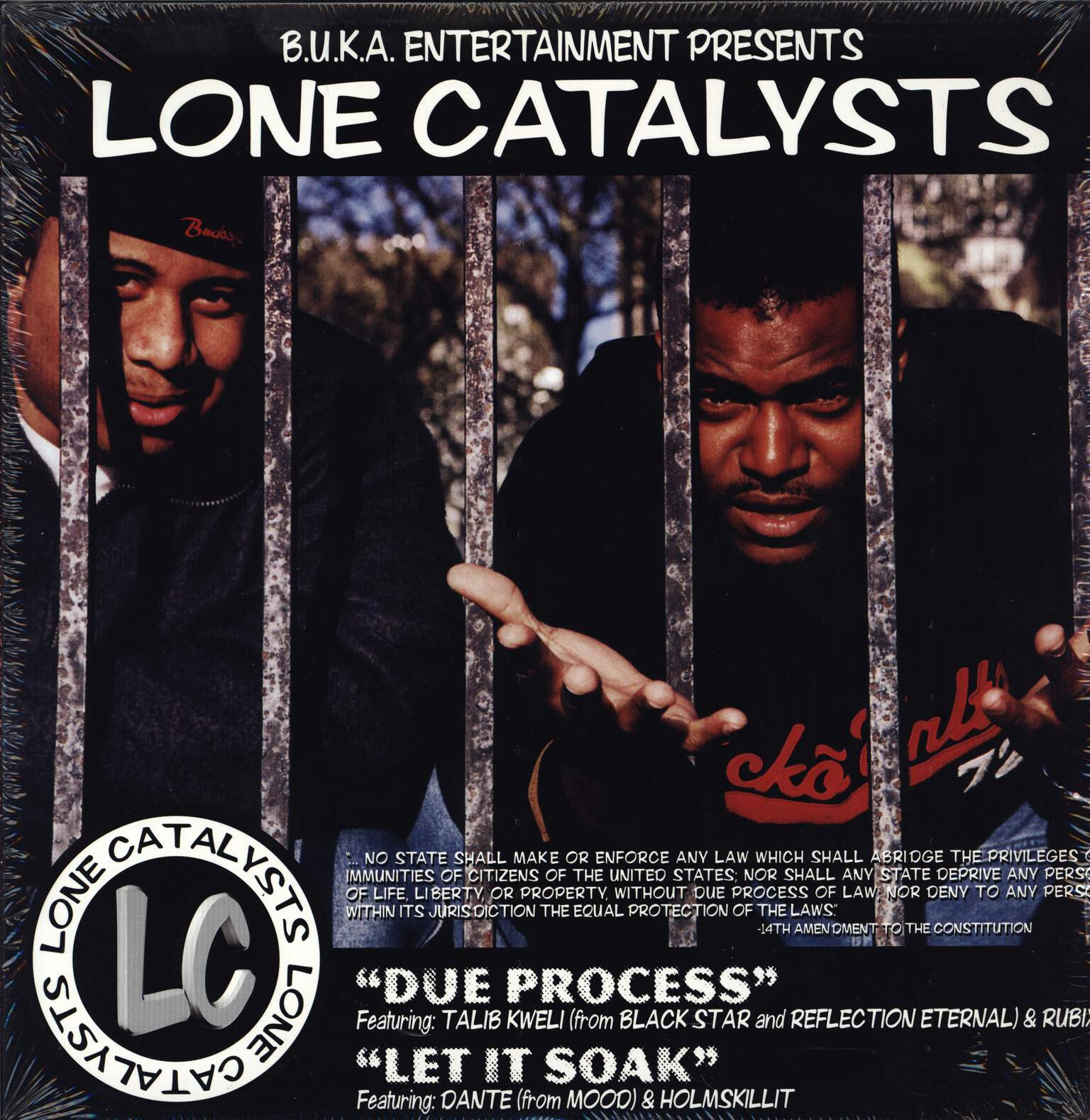 "Lone Catalysts: Due Process / Let It Soak, 12"" Maxi Single (Vinyl)"