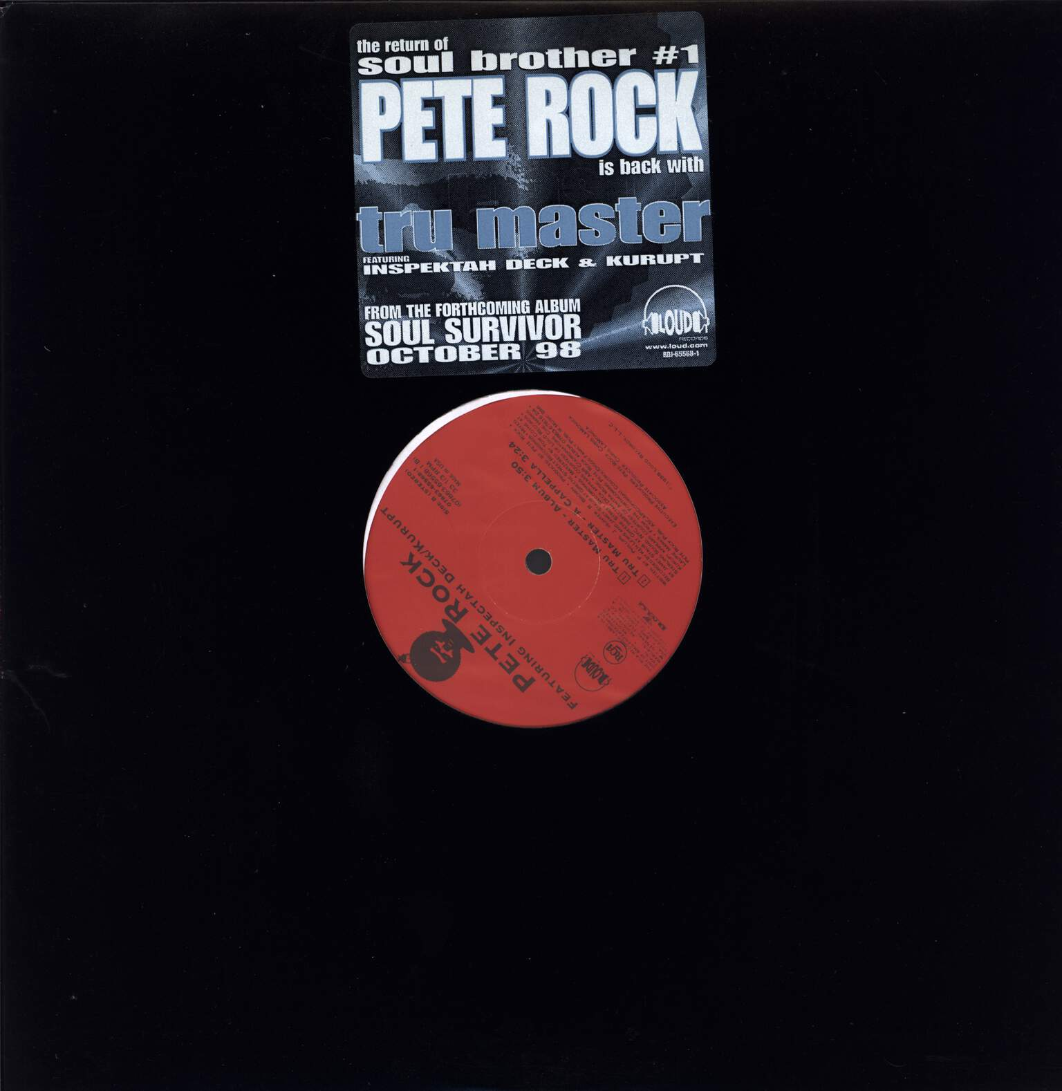 "Pete Rock: Tru Master, 12"" Maxi Single (Vinyl)"