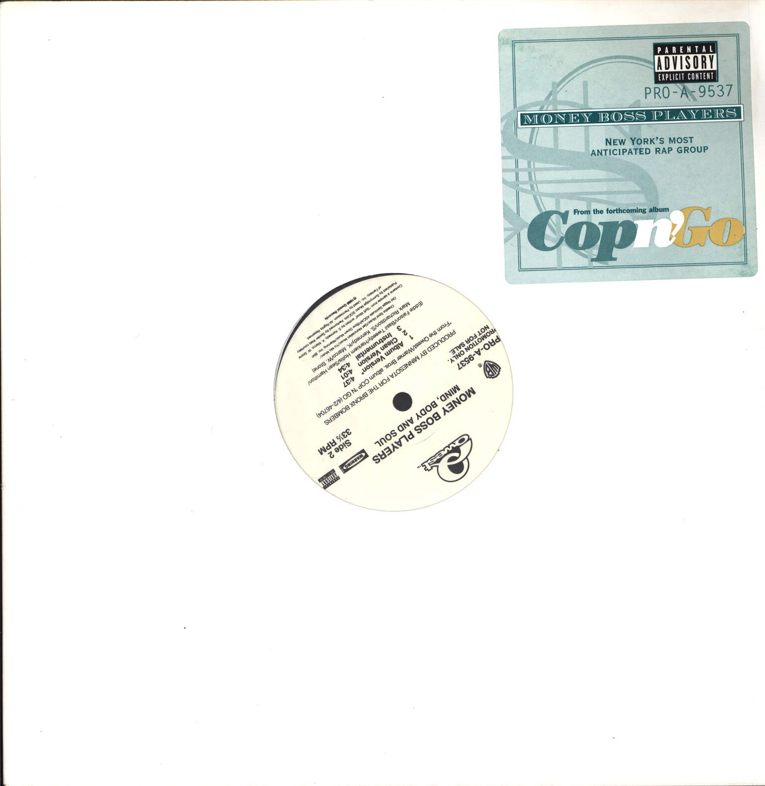 "Money Boss Players: Bronx Niggas, 12"" Maxi Single (Vinyl)"