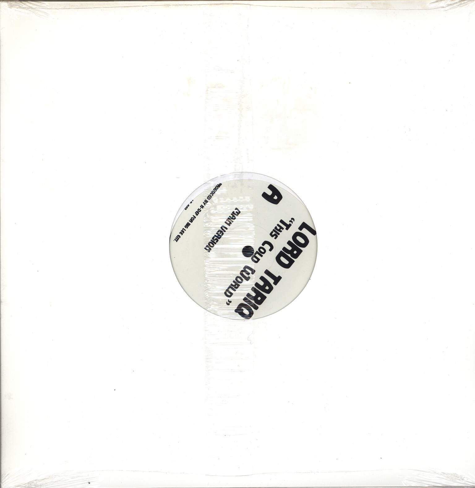 "Lord Tariq: This Cold World, 12"" Maxi Single (Vinyl)"