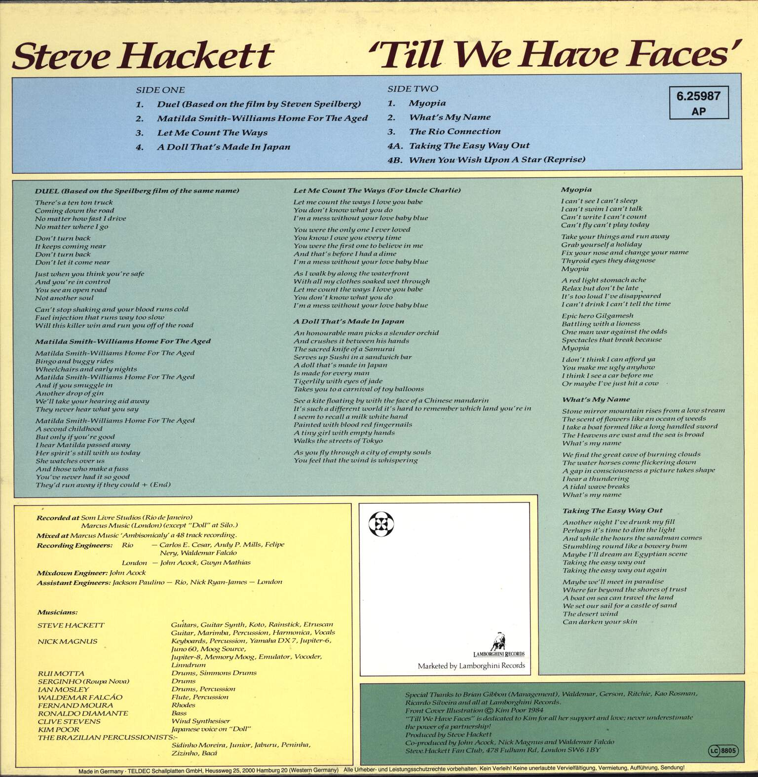 Steve Hackett: Till We Have Faces, LP (Vinyl)