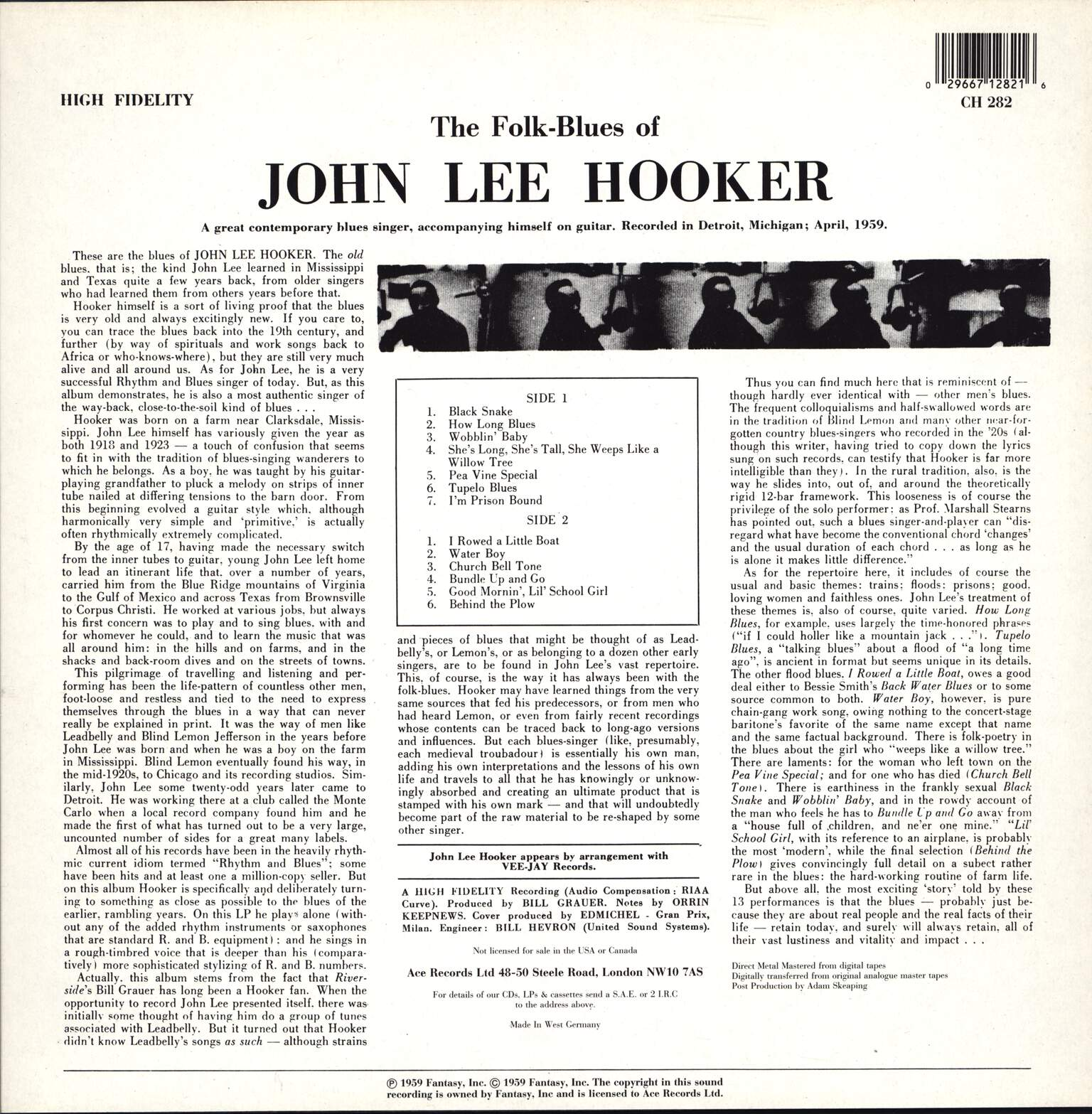 John Lee Hooker: The Folk Blues Of.....John Lee Hooker, LP (Vinyl)