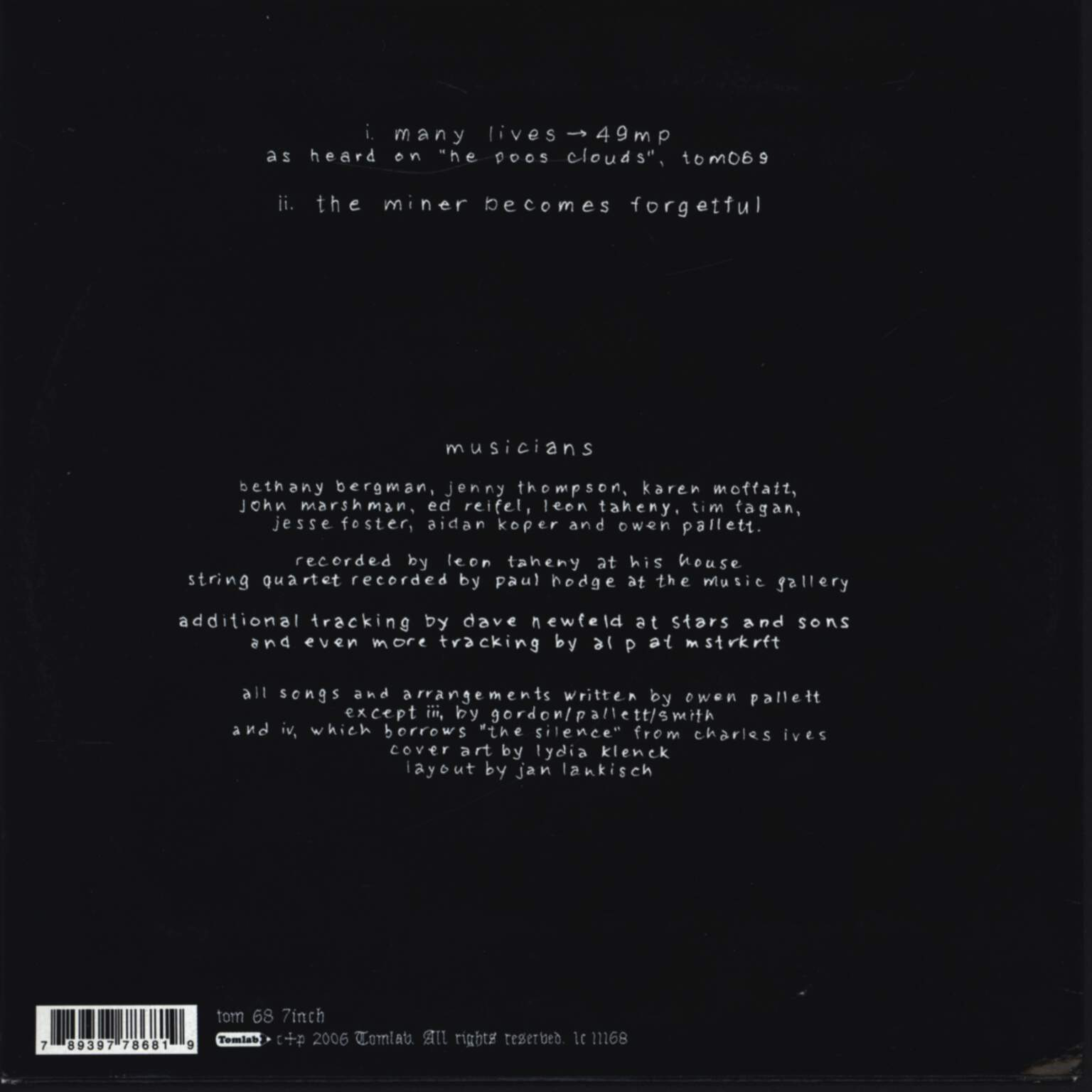 "Final Fantasy: Many Lives → 49 MP, 7"" Single (Vinyl)"