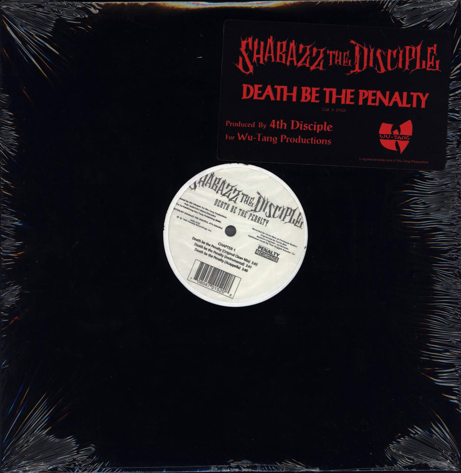 "Shabazz the Disciple: Death Be The Penalty, 12"" Maxi Single (Vinyl)"