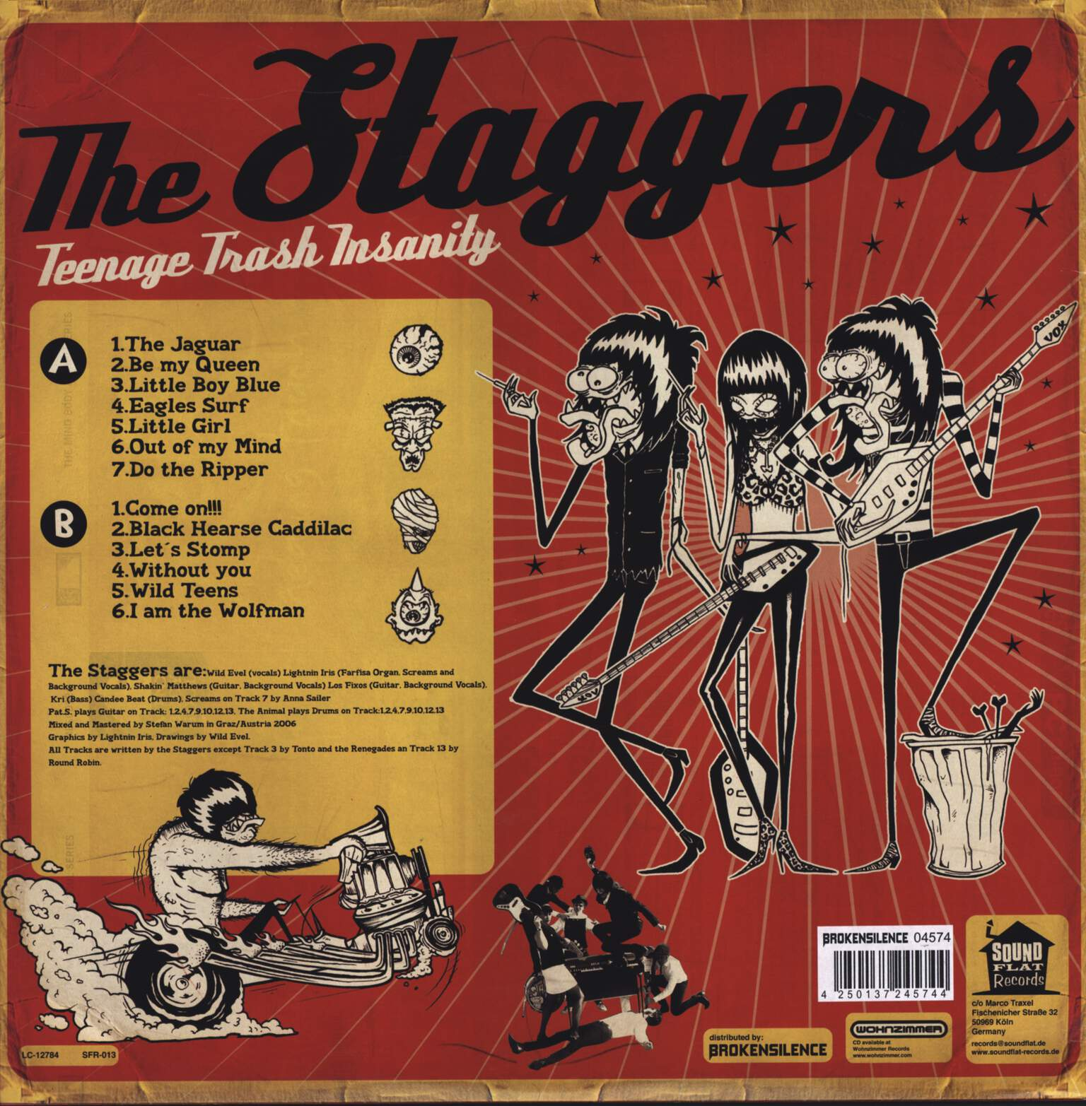 The Staggers: Teenage Trash Insanity, LP (Vinyl)