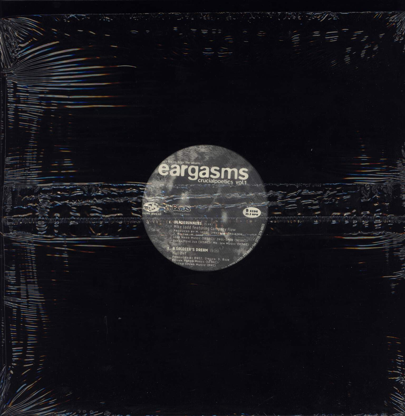 "Various: Select Tracks From The Album: Eargasms Crucialpoetics Vol. 1, 12"" Maxi Single (Vinyl)"