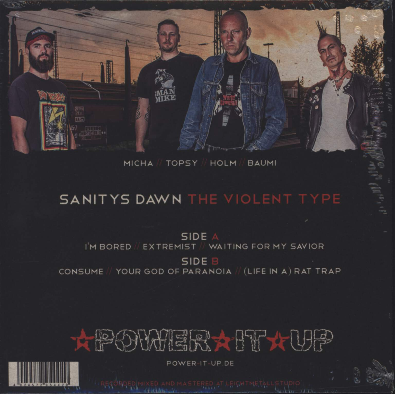 "Sanitys Dawn: The Violent Type, 7"" Single (Vinyl)"