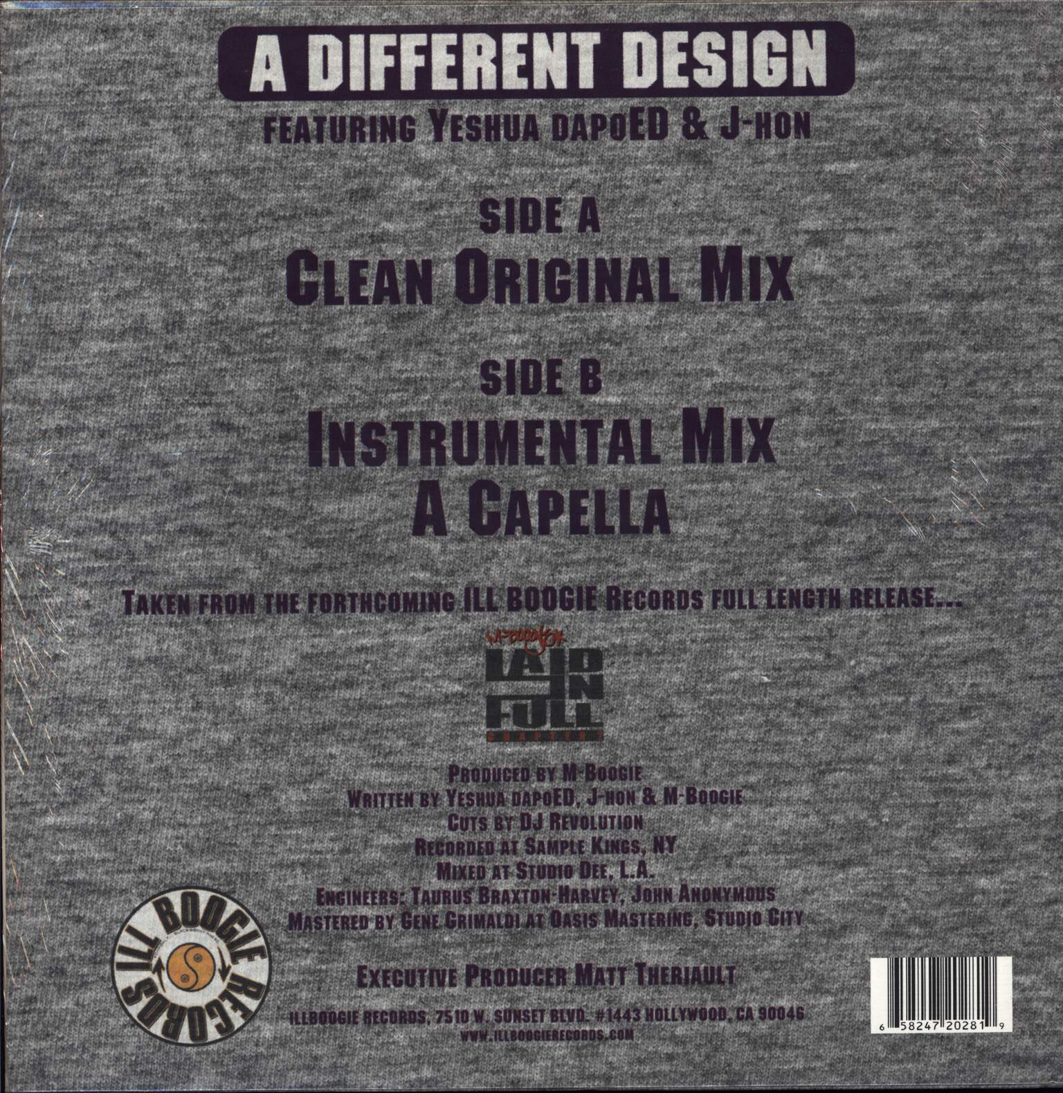 "M-Boogie: A Different Design, 12"" Maxi Single (Vinyl)"