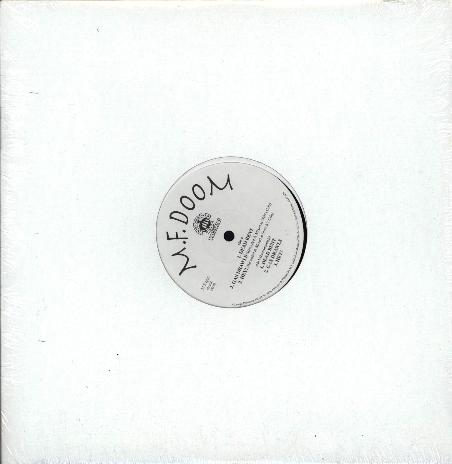 "Mf Doom: Dead Bent / Gas Drawls / Hey!, 12"" Maxi Single (Vinyl)"