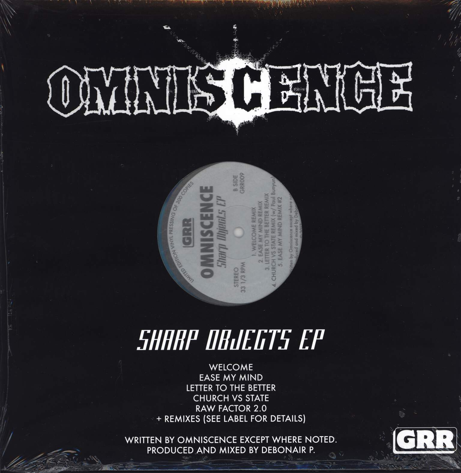 "Omniscence: Sharp Objects EP, 12"" Maxi Single (Vinyl)"