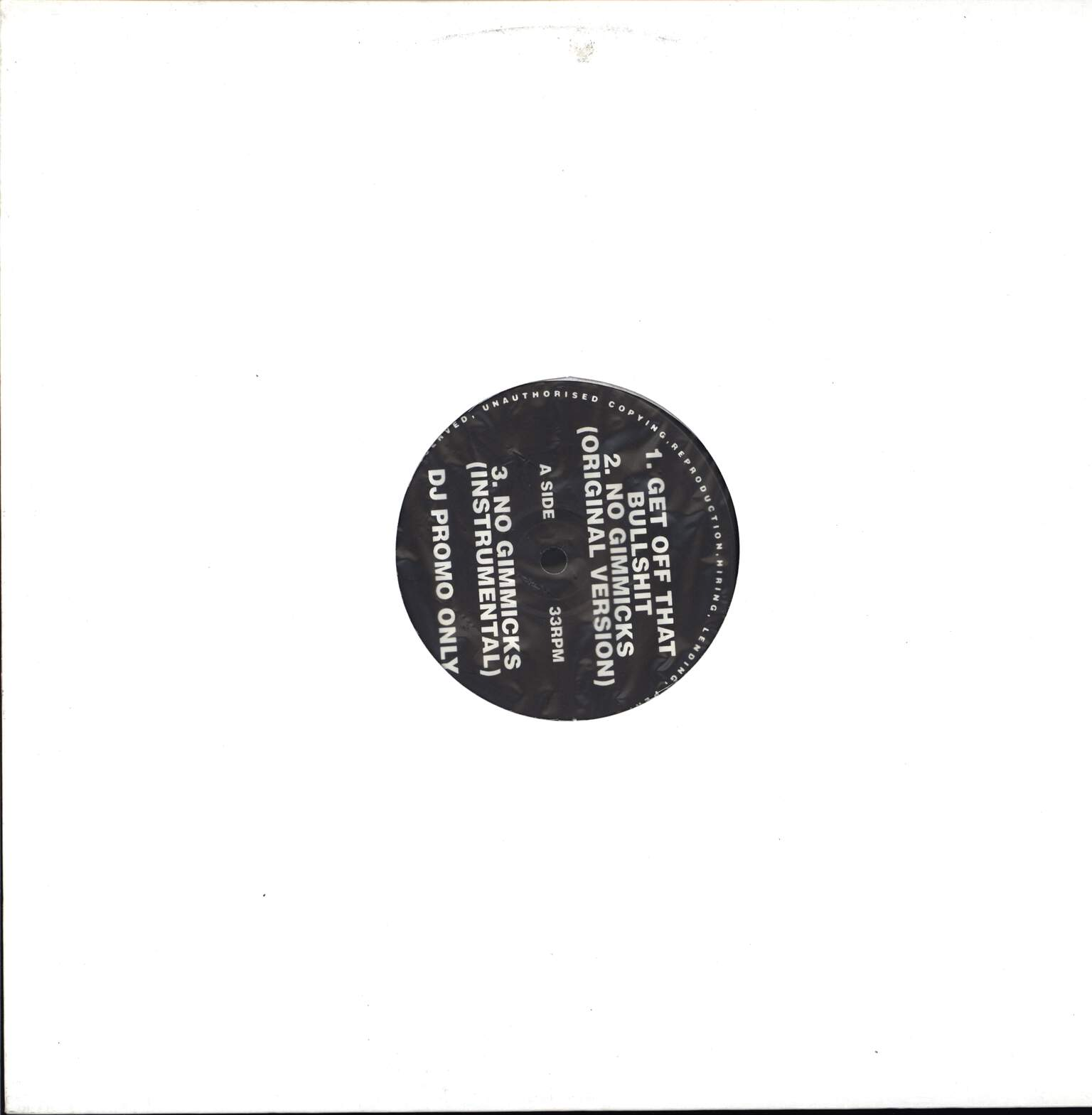 "Large Professor: Get Off That Bullshit / No Gimmicks / You Know Now (Remix), 12"" Maxi Single (Vinyl)"