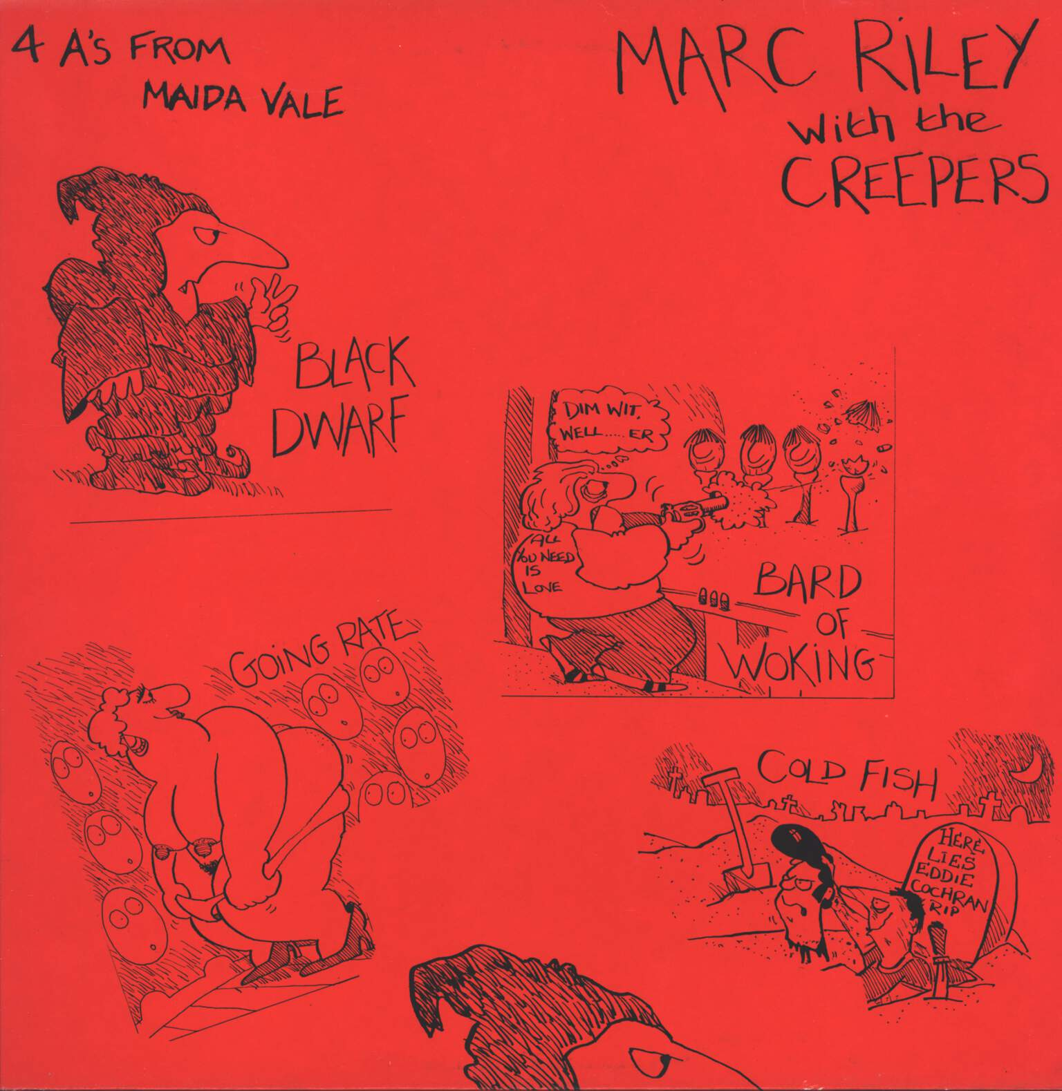 "Marc Riley: 4 A's From Maida Vale, 12"" Maxi Single (Vinyl)"