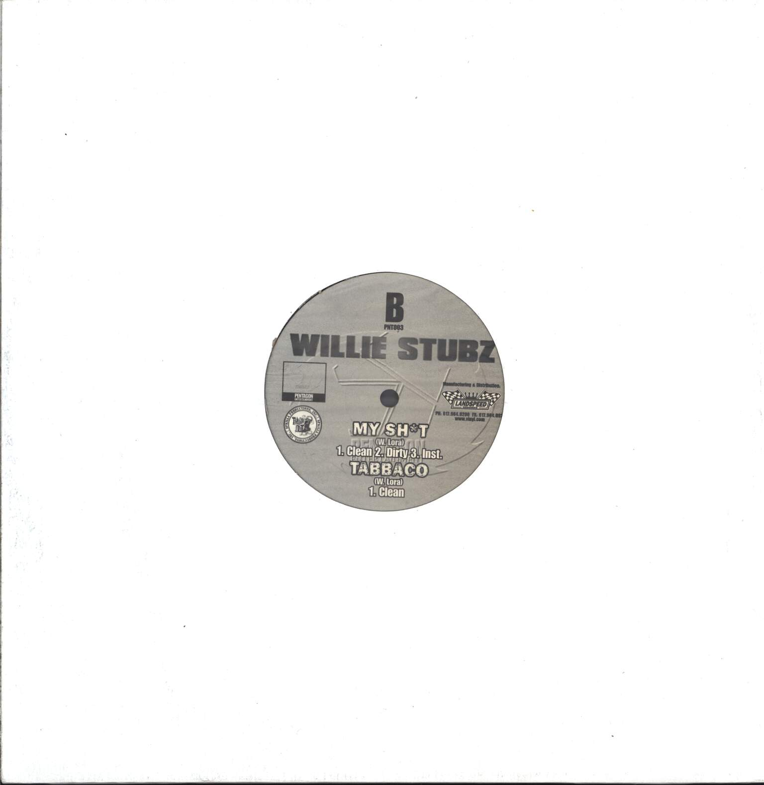 "Willie Stubz: Thuggin', 12"" Maxi Single (Vinyl)"