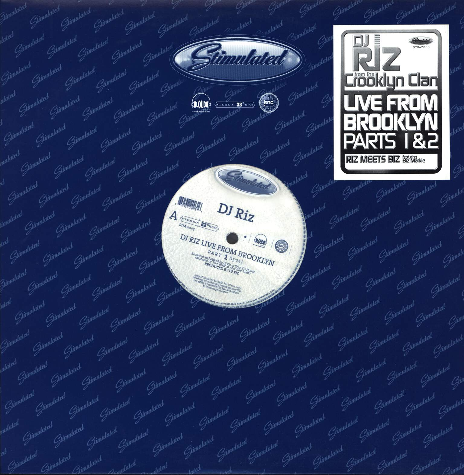 "DJ Riz: Live From Brooklyn, 12"" Maxi Single (Vinyl)"