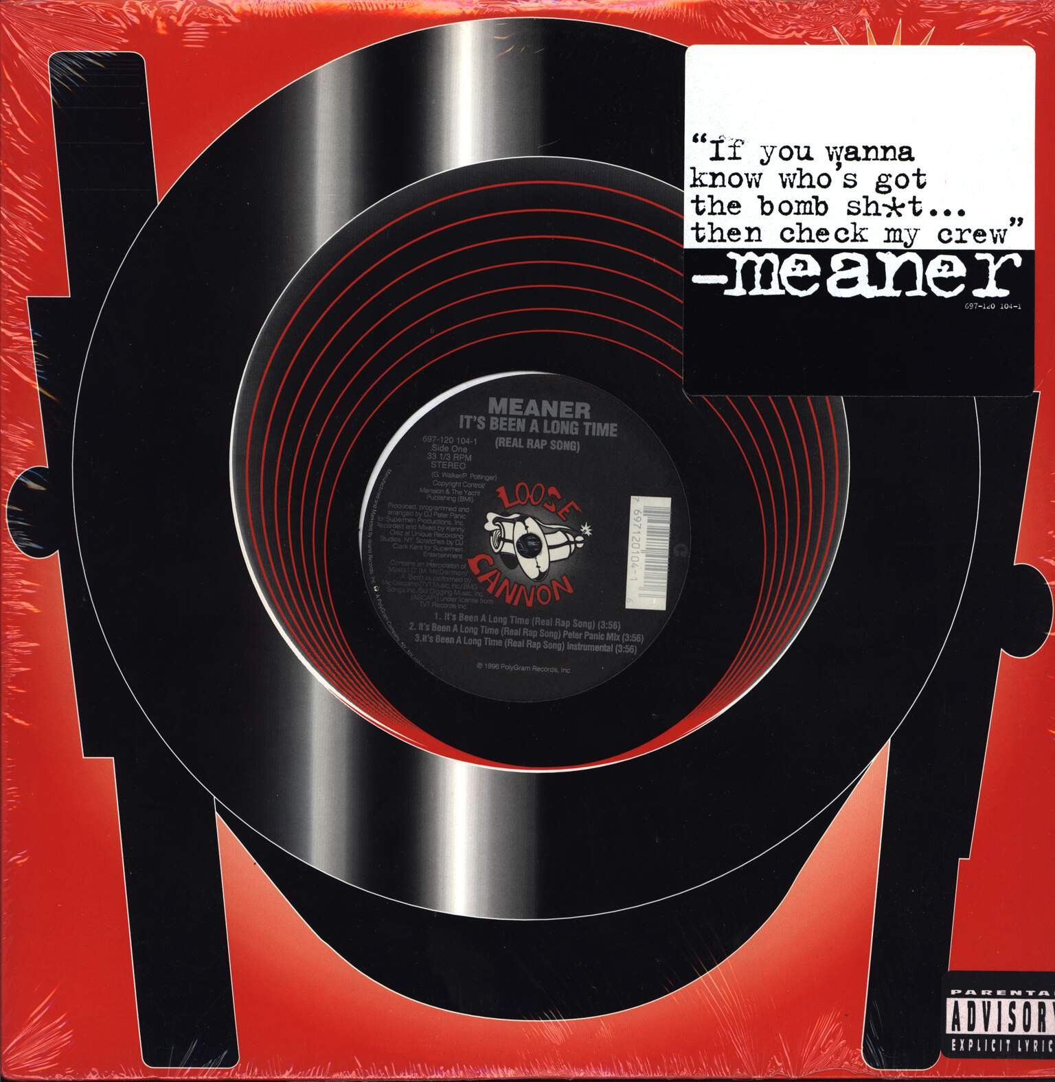 "Meaner: It's Been A Long Time (Real Rap Song) / How We Do, 12"" Maxi Single (Vinyl)"