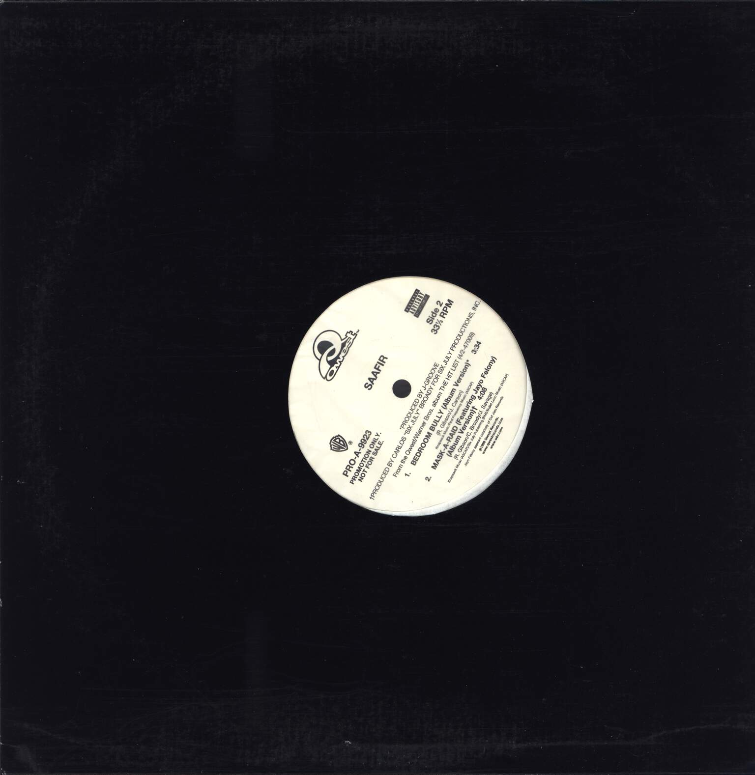 "Saafir: Not Fa' Nuthin', 12"" Maxi Single (Vinyl)"