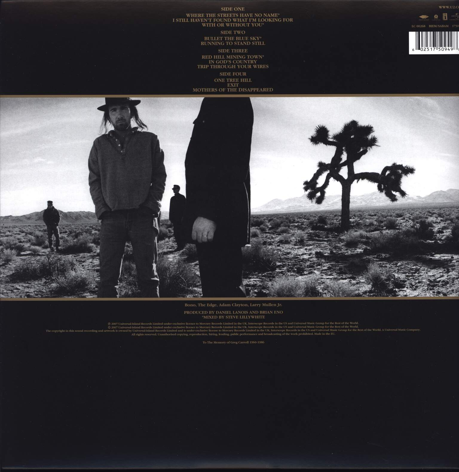 U2: The Joshua Tree, LP (Vinyl)