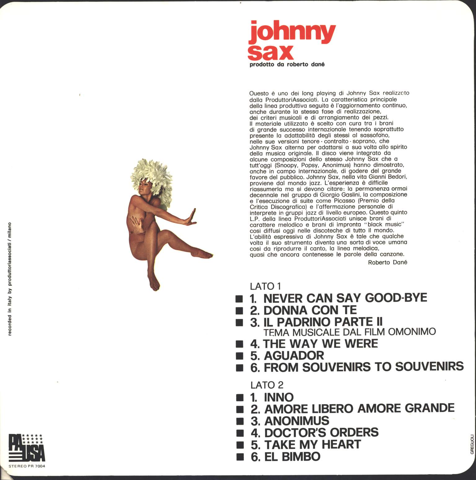 Johnny Sax: Johnny Sax, LP (Vinyl)