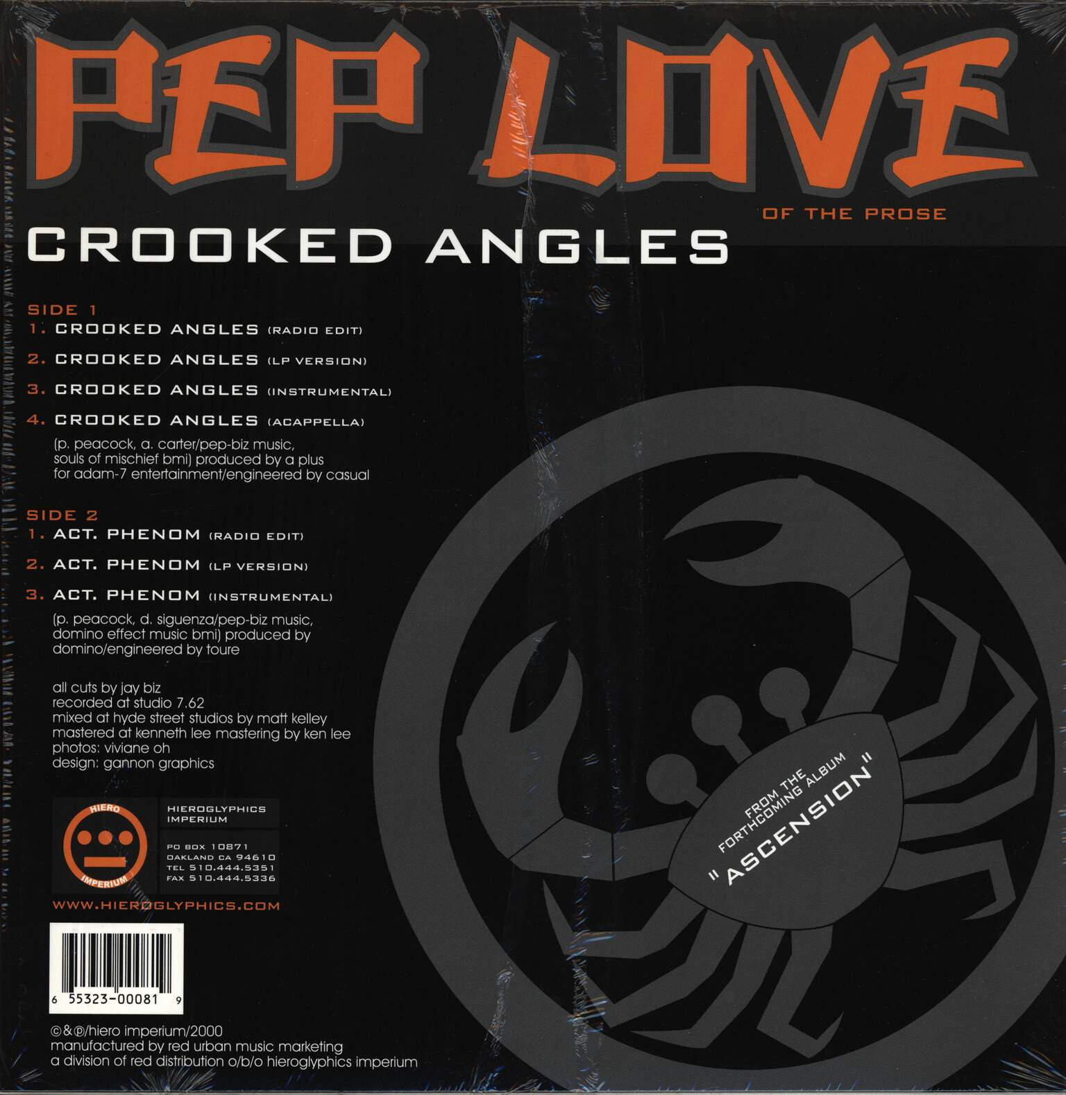 "Pep Love: Crooked Angles, 12"" Maxi Single (Vinyl)"