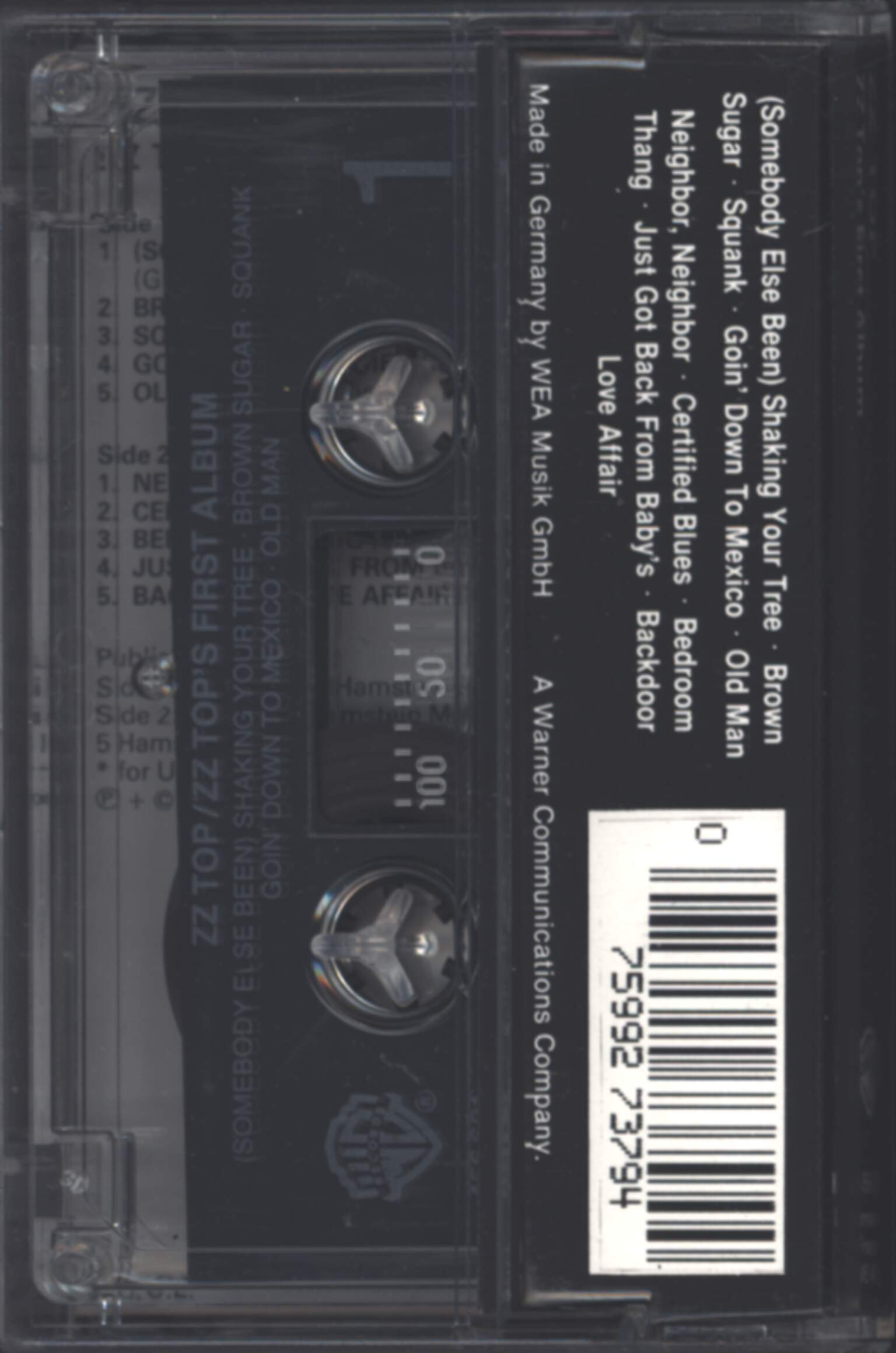 ZZ Top: First Album, Compact Cassette