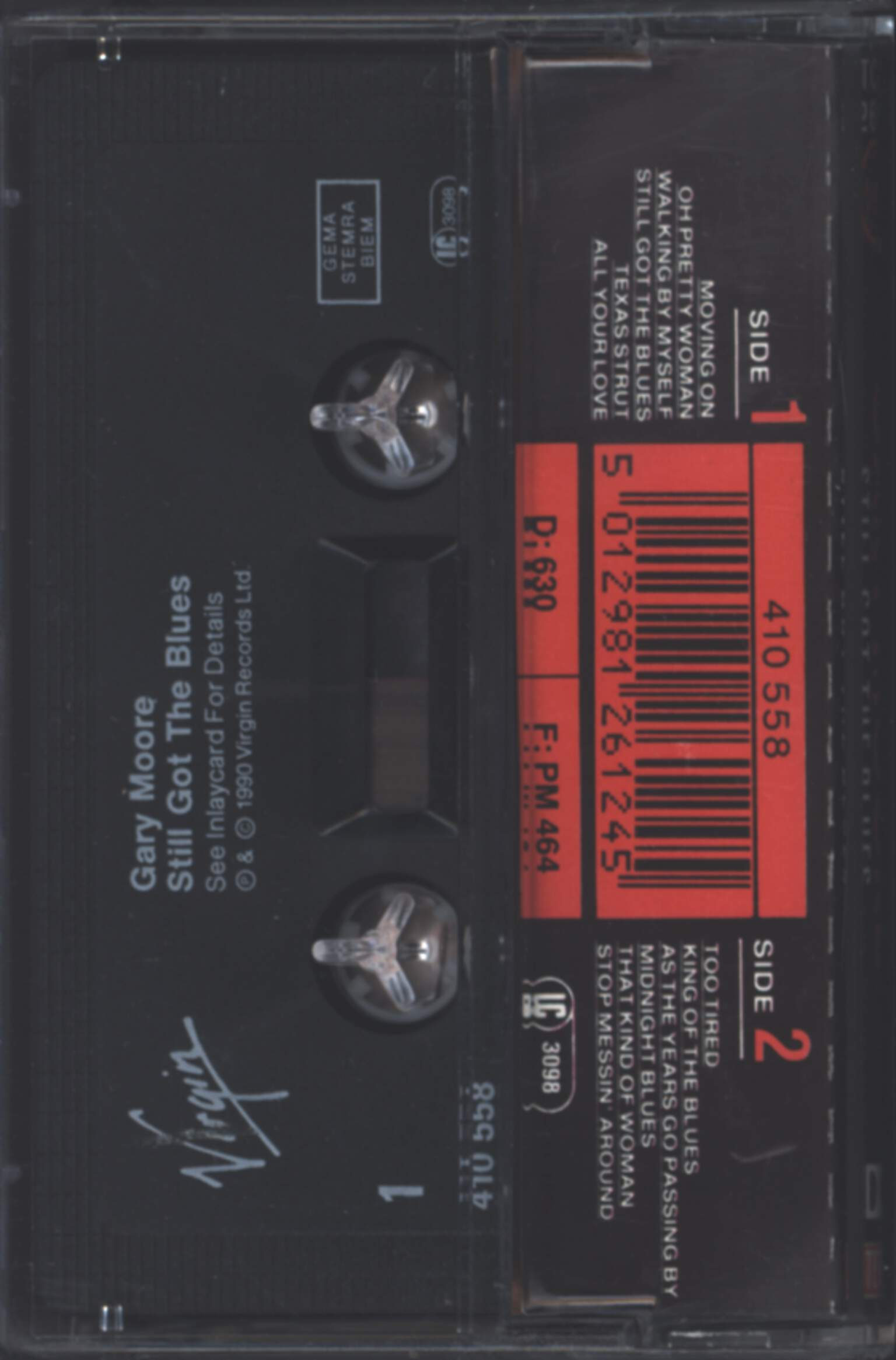 Gary Moore: Still Got The Blues, Compact Cassette