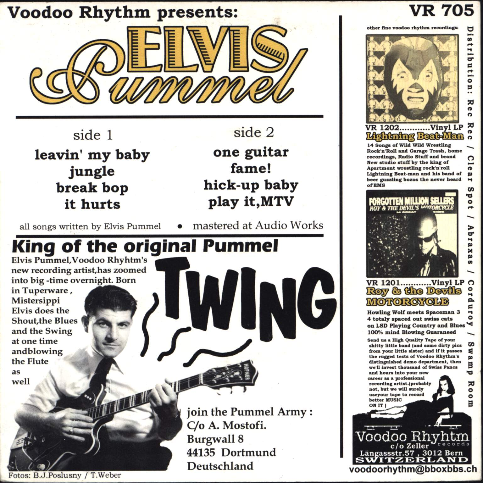 "Elvis Pummel: Original 50's Punk, 7"" Single (Vinyl)"