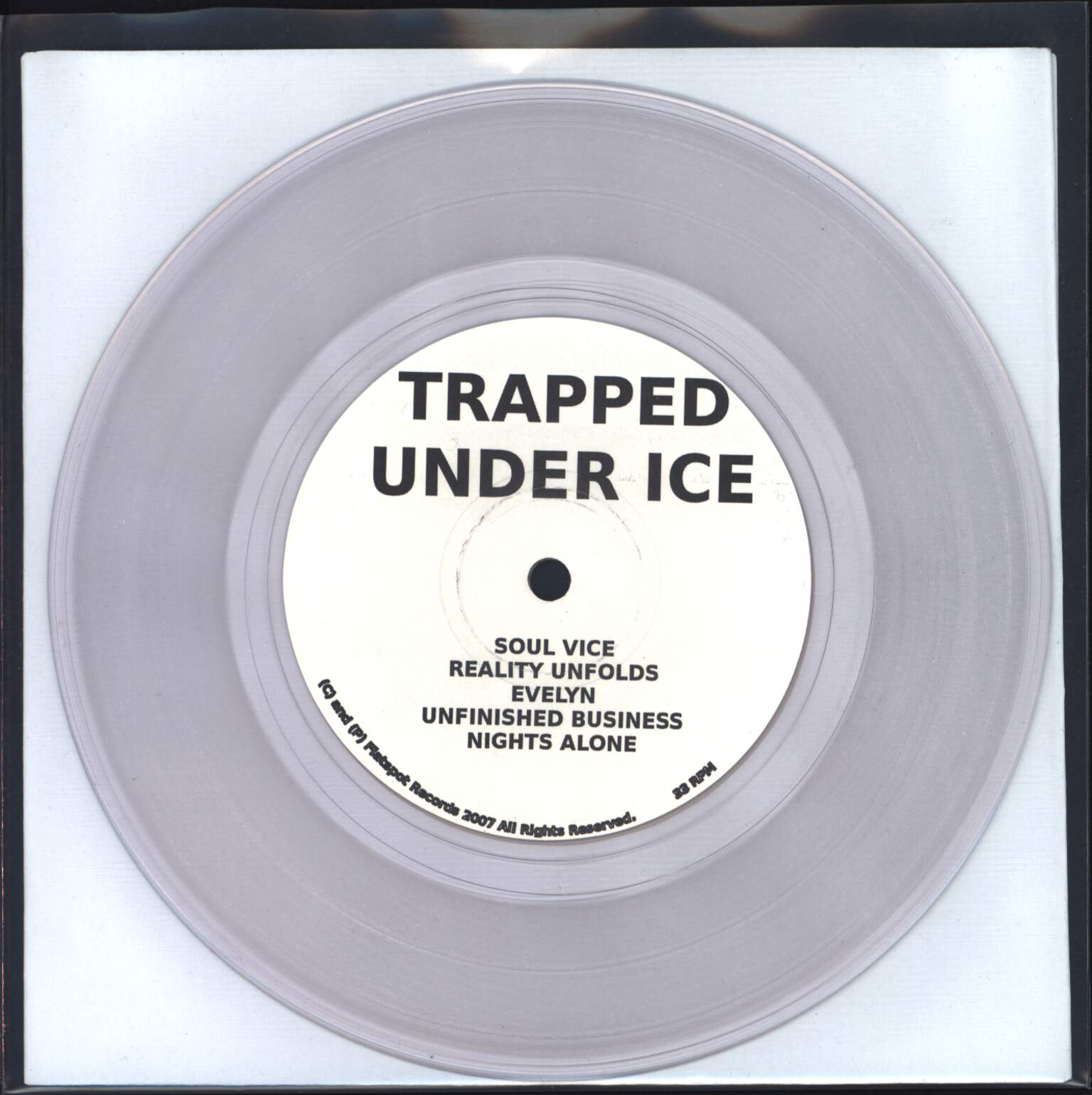 "Trapped Under Ice: Demo 2007, 7"" Single (Vinyl)"