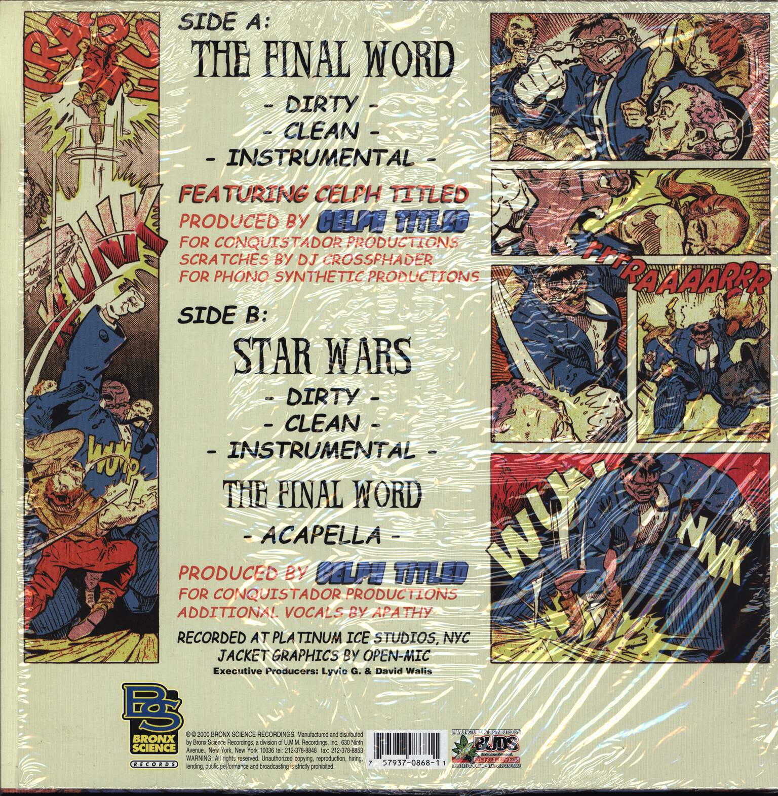 "L-Fudge: The Final Word / Star Wars, 12"" Maxi Single (Vinyl)"