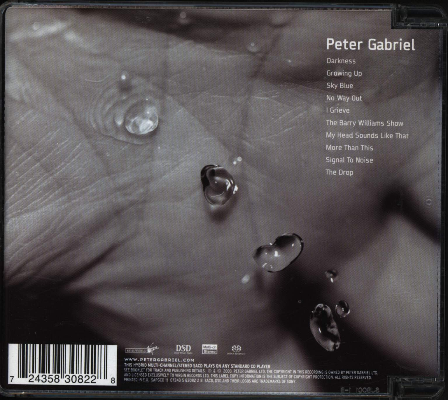 Peter Gabriel: Up, CD