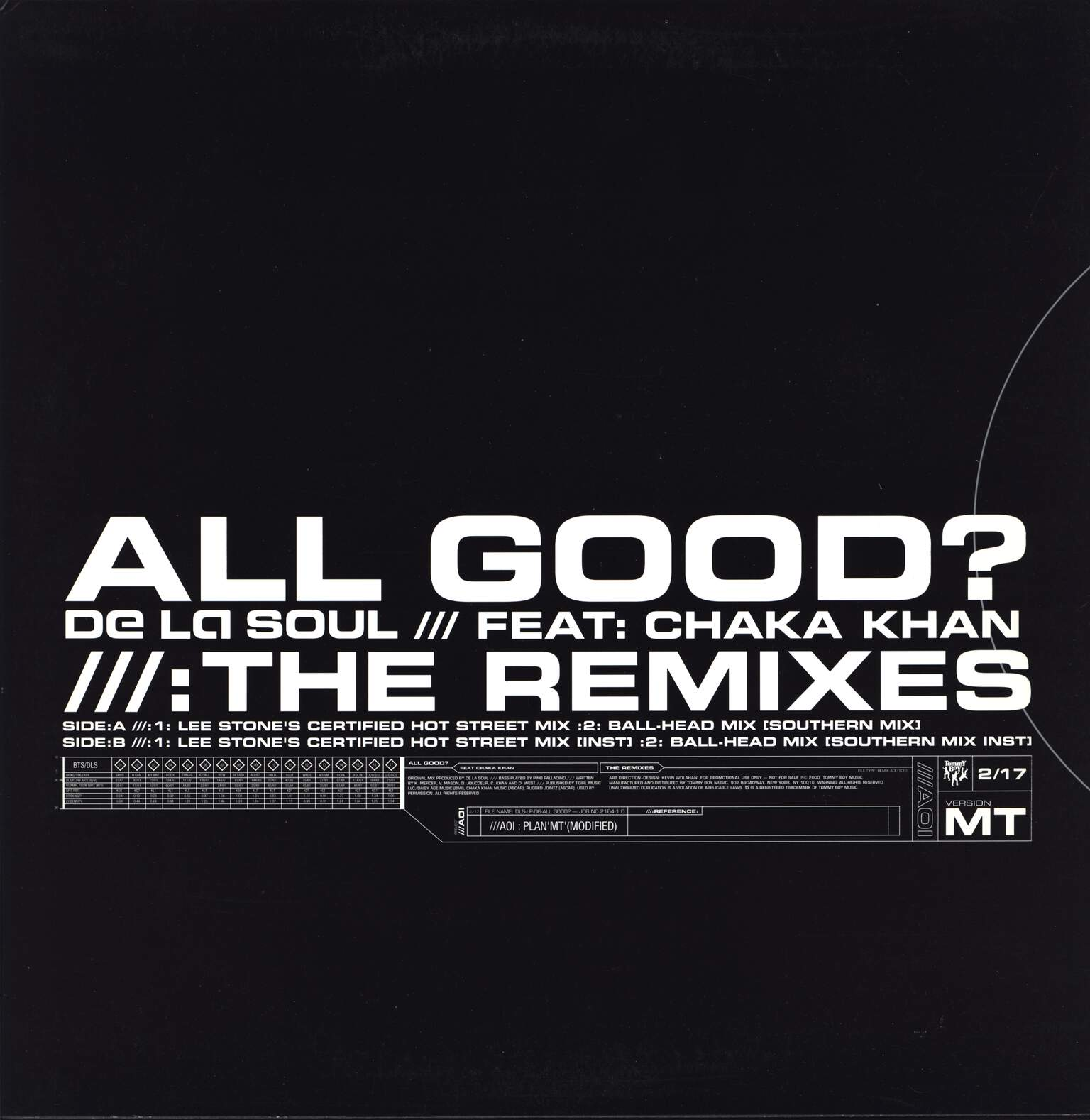 "De La Soul: All Good? (The Remixes), 12"" Maxi Single (Vinyl)"
